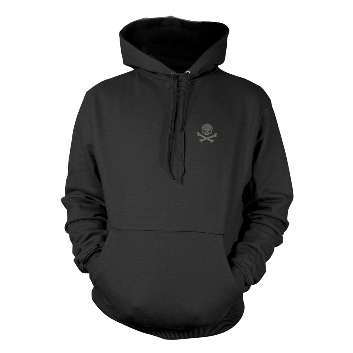 Skull & Bones Hoodie (Embroidered) - Black/Black - Hoodies - Pipe Hitters Union