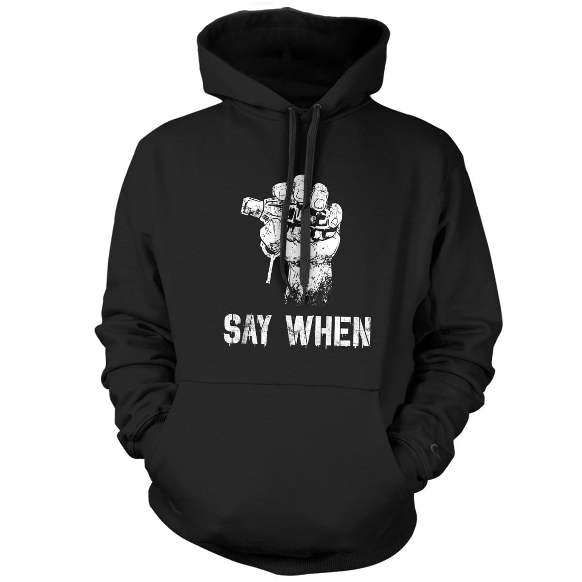 Say When Hoodie - Black - Hoodies - Pipe Hitters Union