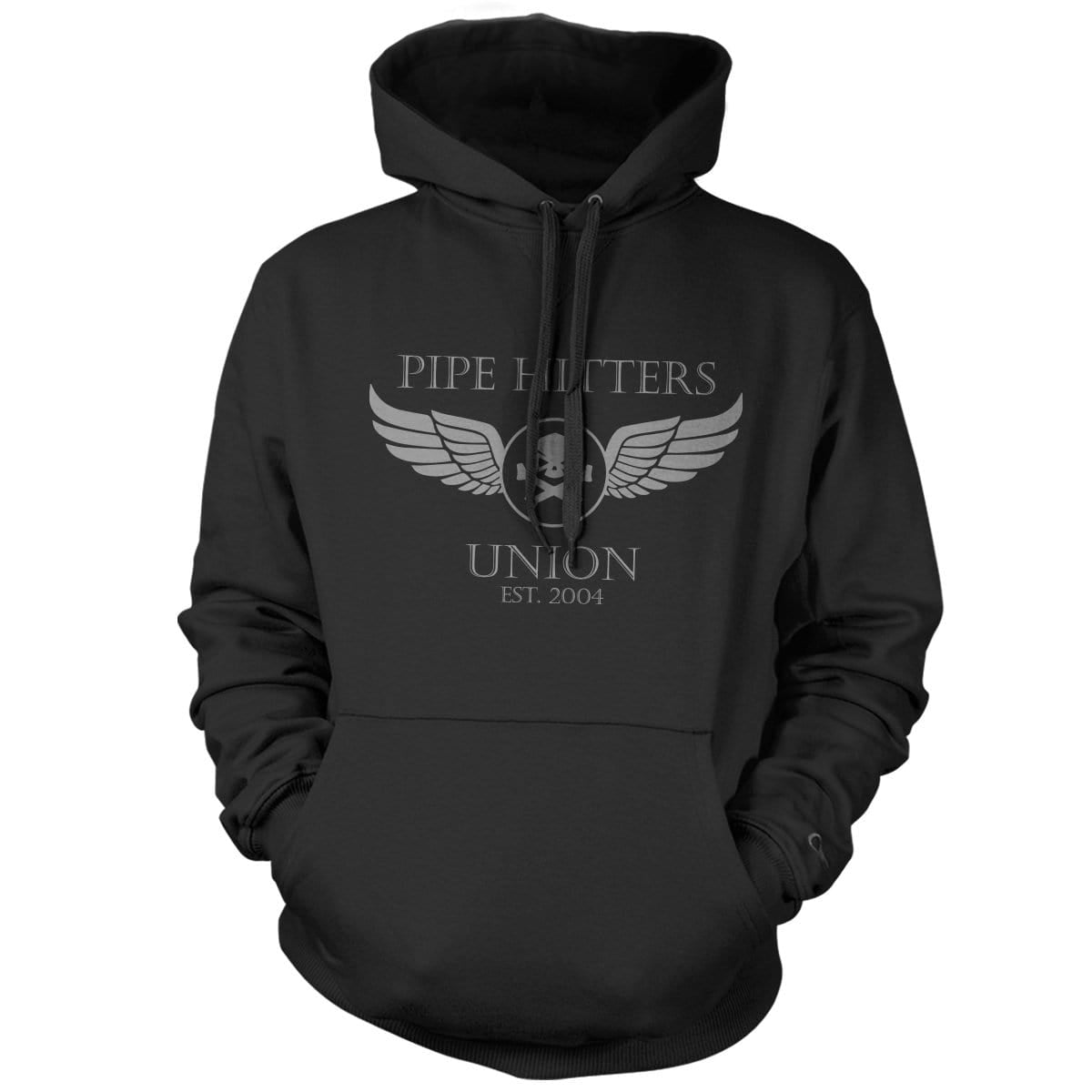 Wings Hoodie - Black - Hoodies - Pipe Hitters Union