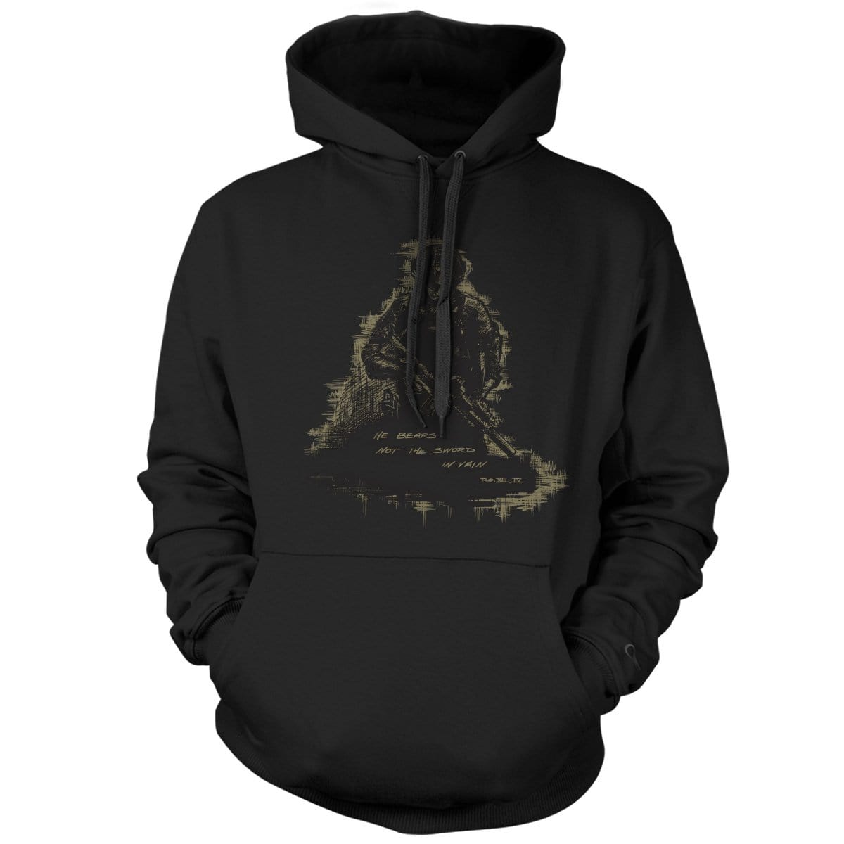 Romans 13:4 Hoodie - Black - Hoodies - Pipe Hitters Union
