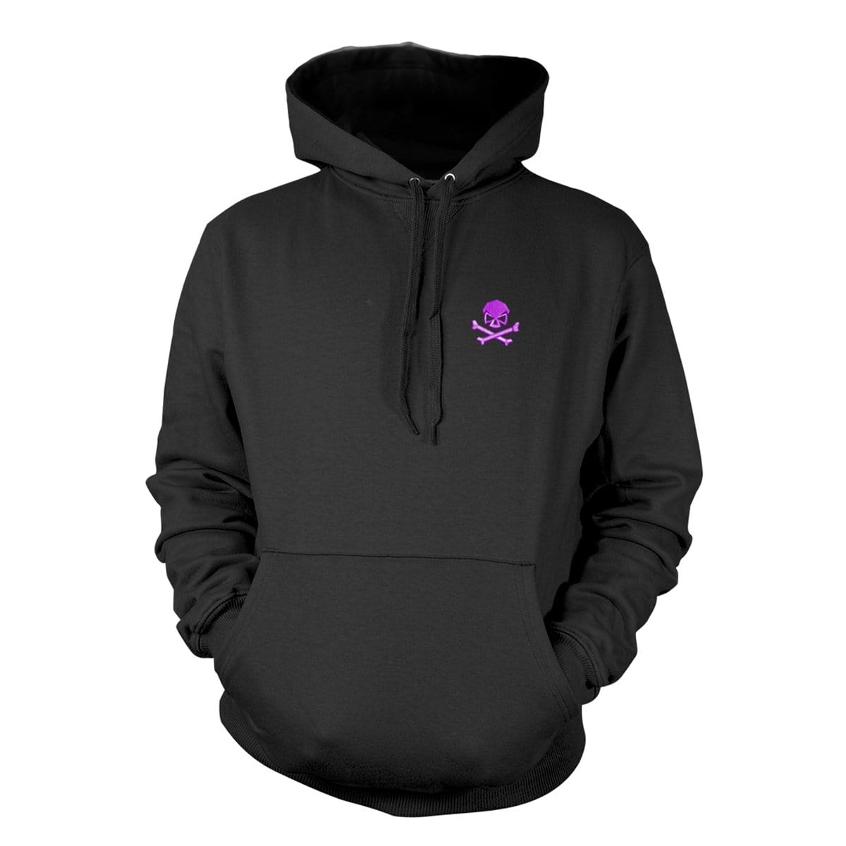Skull & Bones Hoodie (Embroidered) - Black/Purple - Hoodies - Pipe Hitters Union