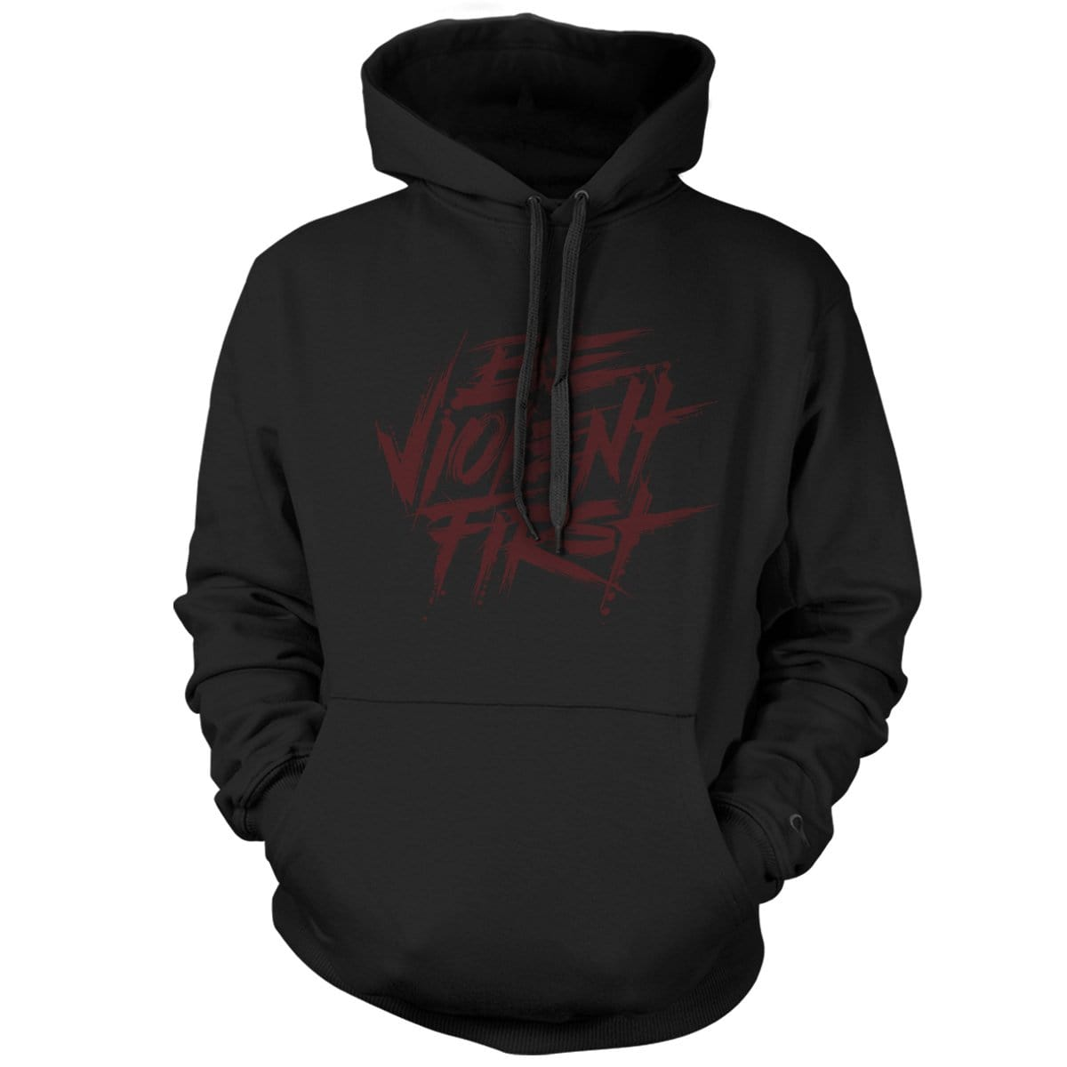 Be Violent First Hoodie - Black/Red - Hoodies - Pipe Hitters Union