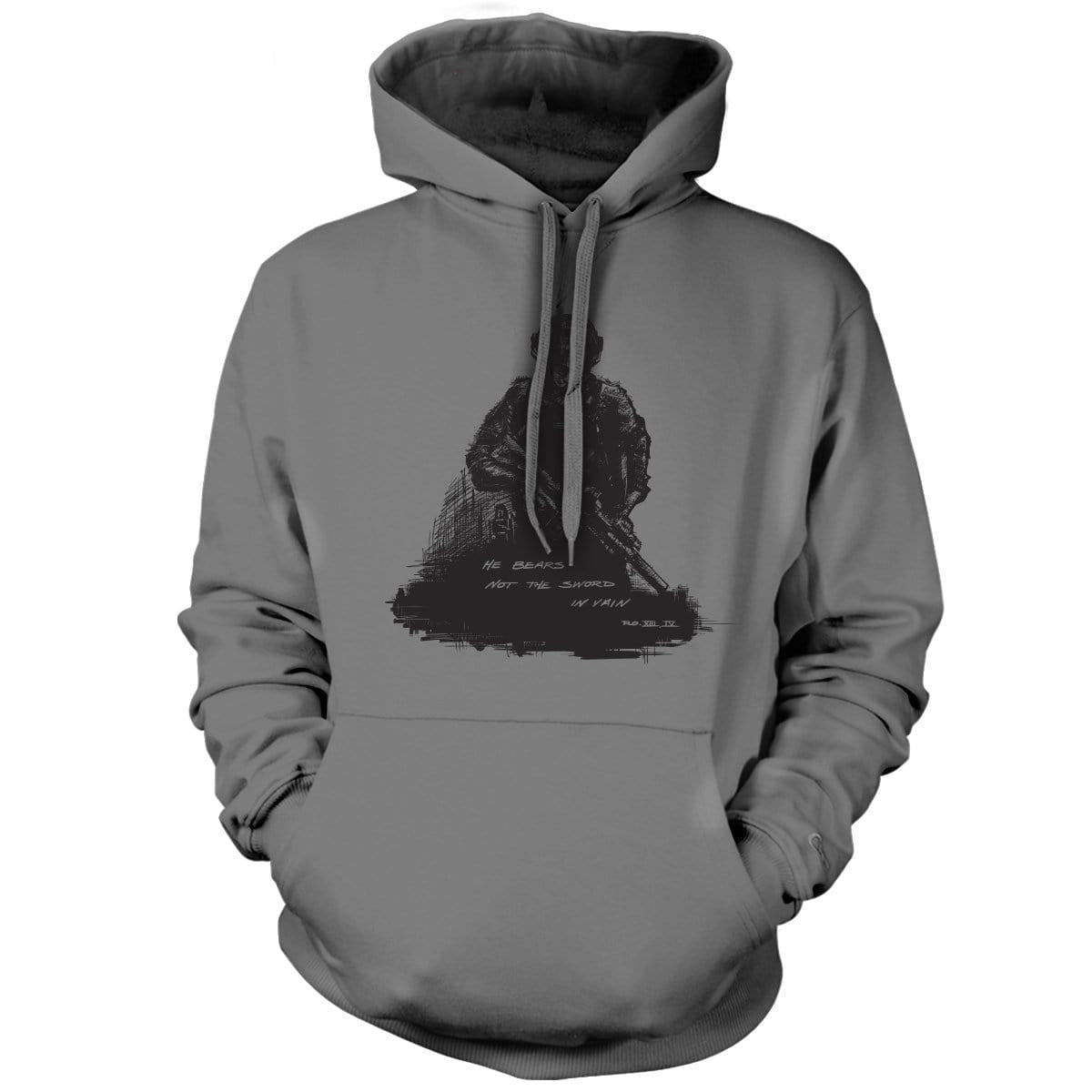 Romans 13:4 Hoodie - Grey - Hoodies - Pipe Hitters Union