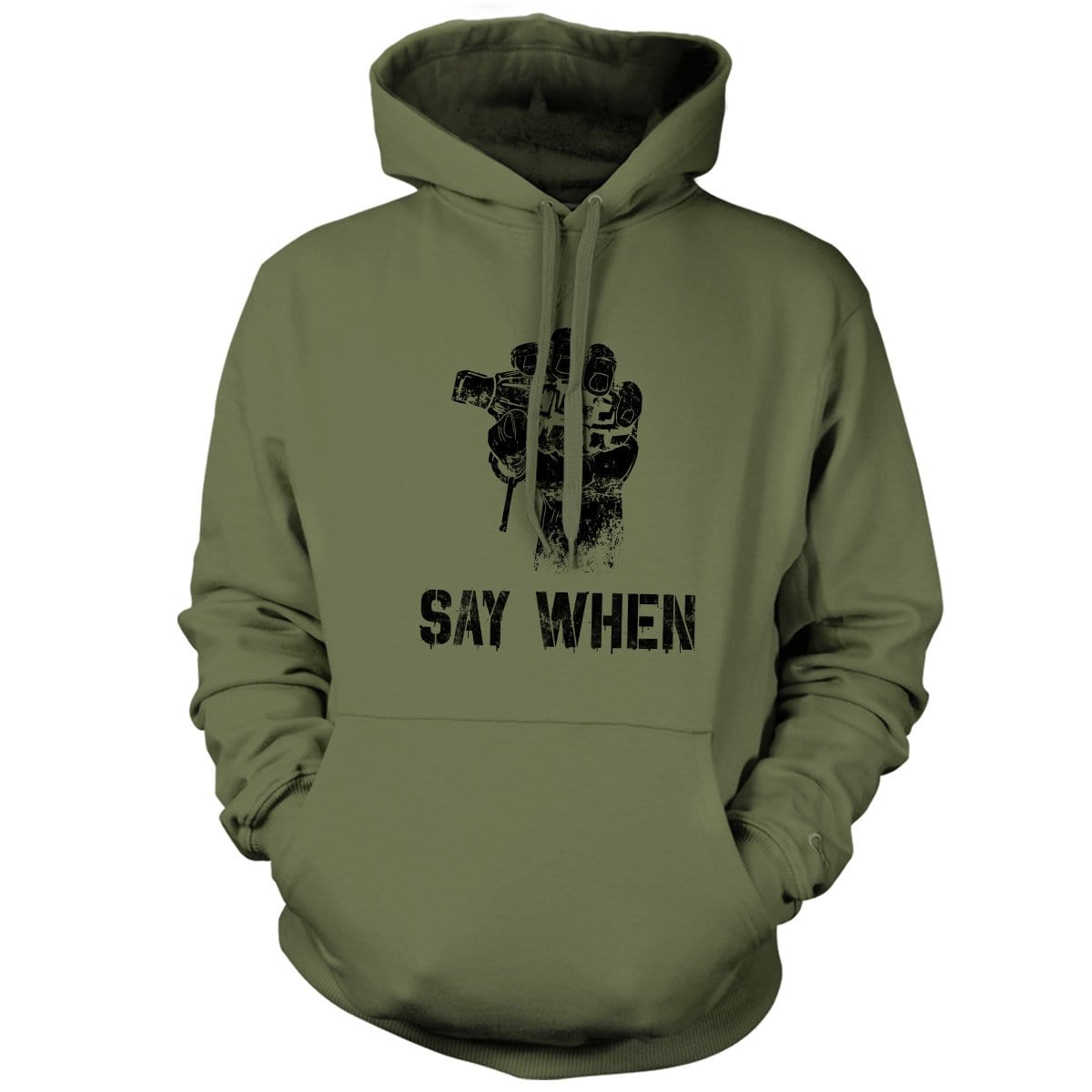 Say When Hoodie - Military Green - Hoodies - Pipe Hitters Union