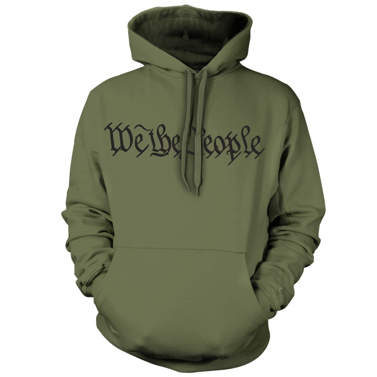 We The People Hoodie - Military Green - Hoodies - Pipe Hitters Union
