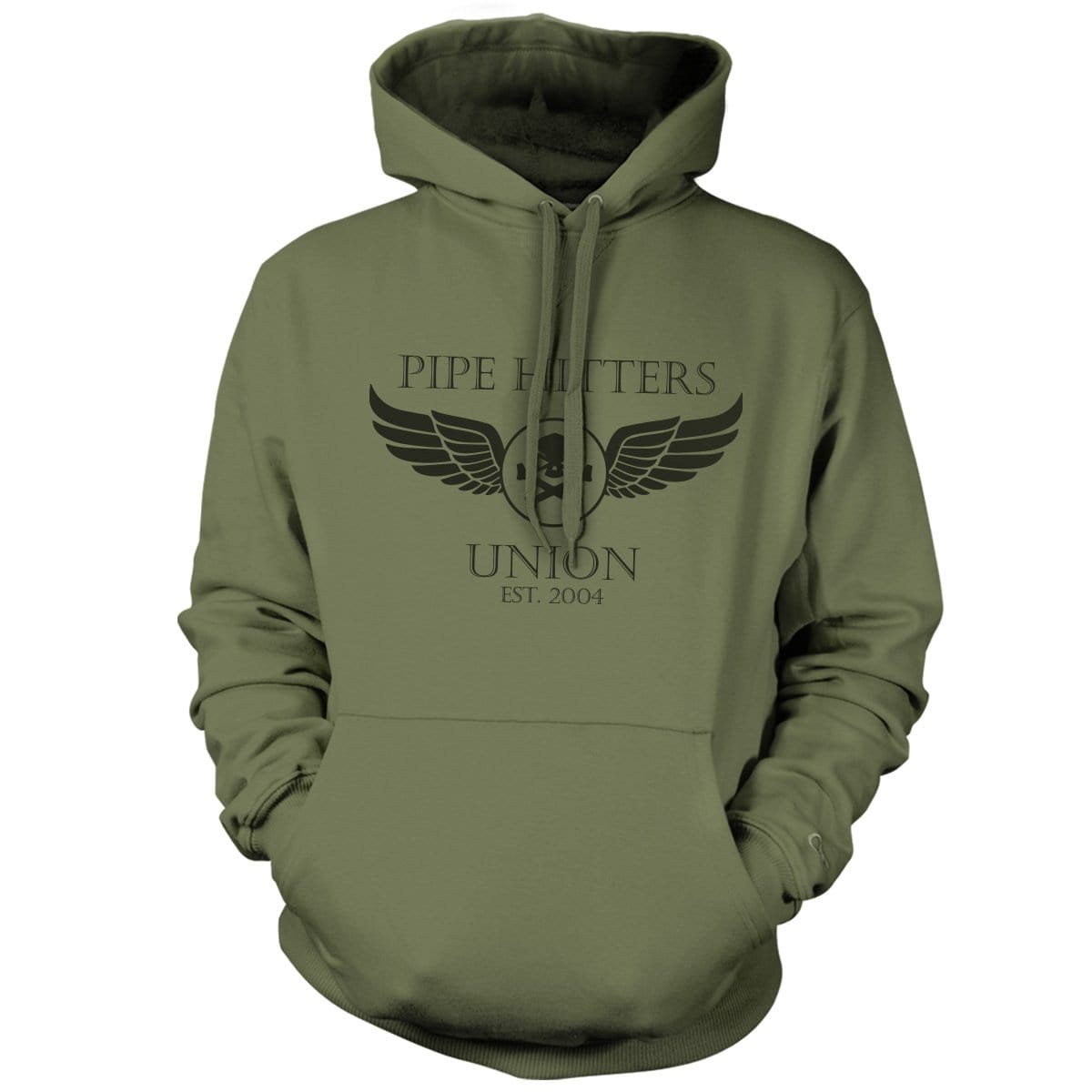 Wings Hoodie - Military Green - Hoodies - Pipe Hitters Union