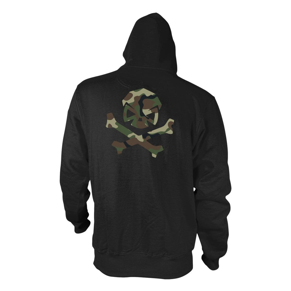 Woodland Camo Logo Hoodie - Black/Green_Woodland - Hoodies - Pipe Hitters Union