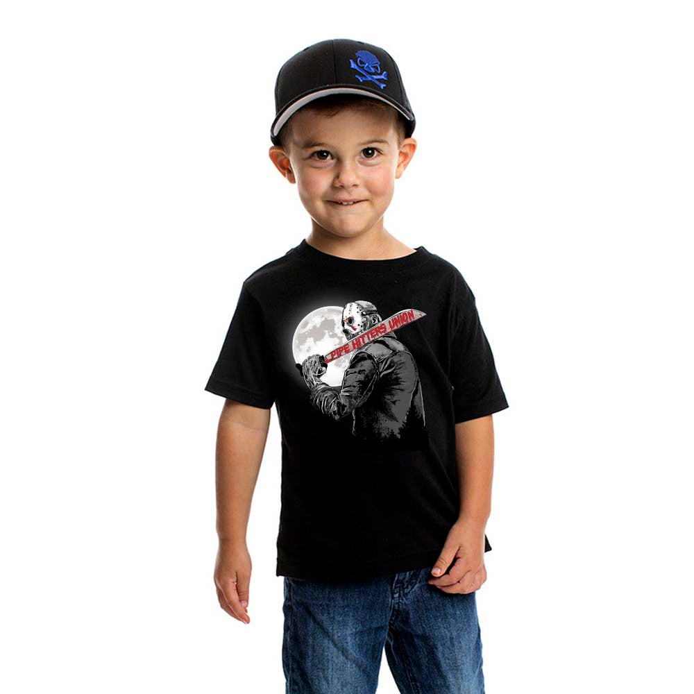 Crystal Lake Hitter - Youth - Black - T-Shirts - Pipe Hitters Union