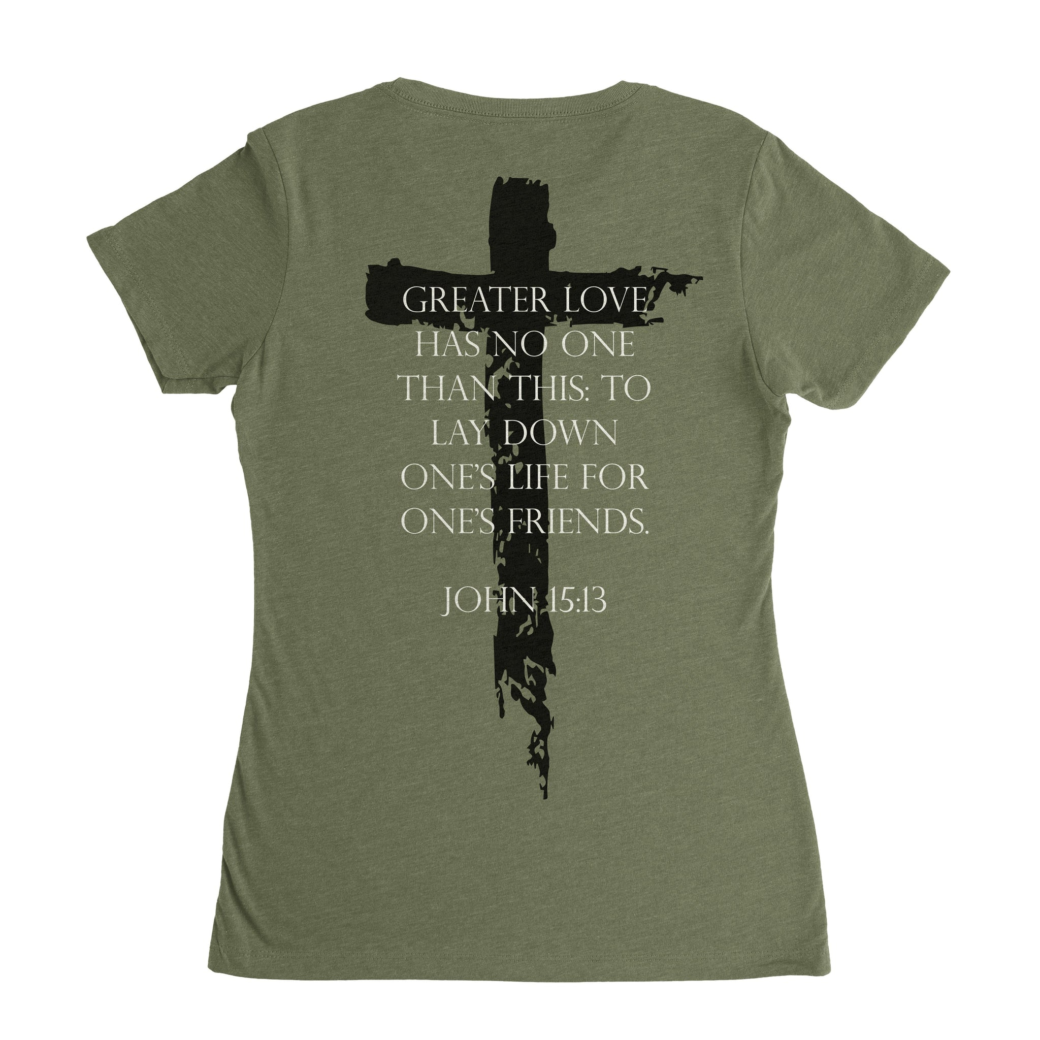 John 15:13 Crew - Military Green - T-Shirts - Pipe Hitters Union