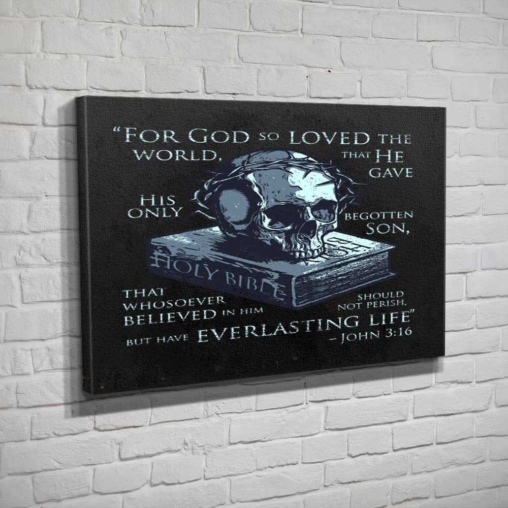 John 3:16 - Canvas - Black - Canvas - Pipe Hitters Union
