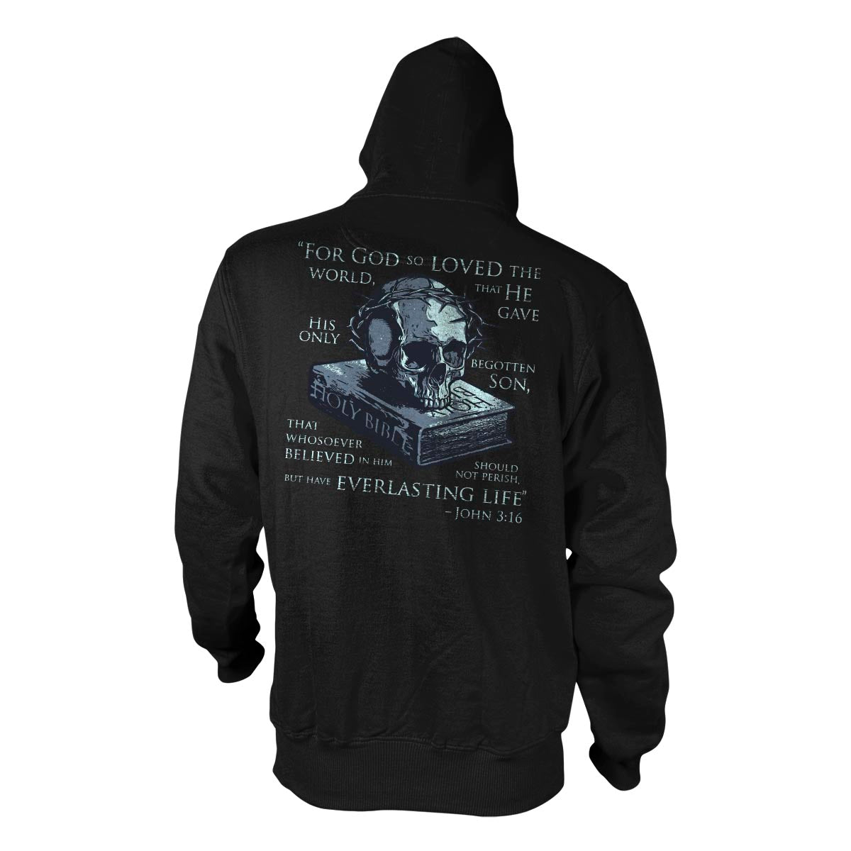 John 3:16 - Hoodie - Black - T-Shirts - Pipe Hitters Union