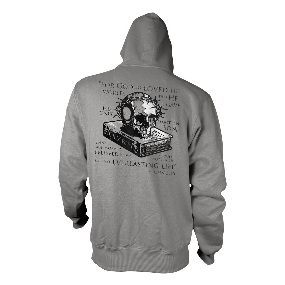 John 3:16 - Hoodie - Grey - T-Shirts - Pipe Hitters Union