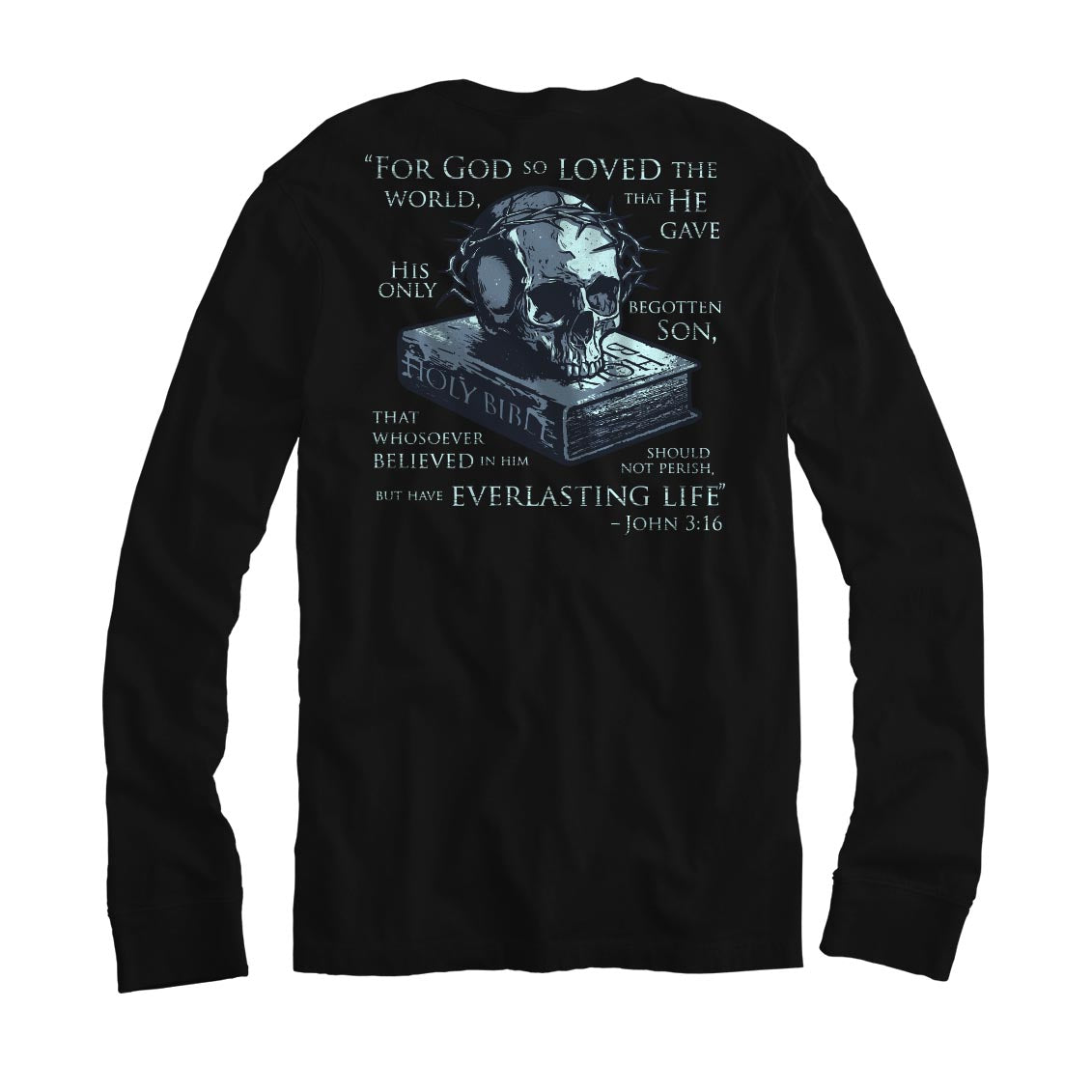 John 3:16 - Long Sleeve - Medium - T-Shirts - Pipe Hitters Union