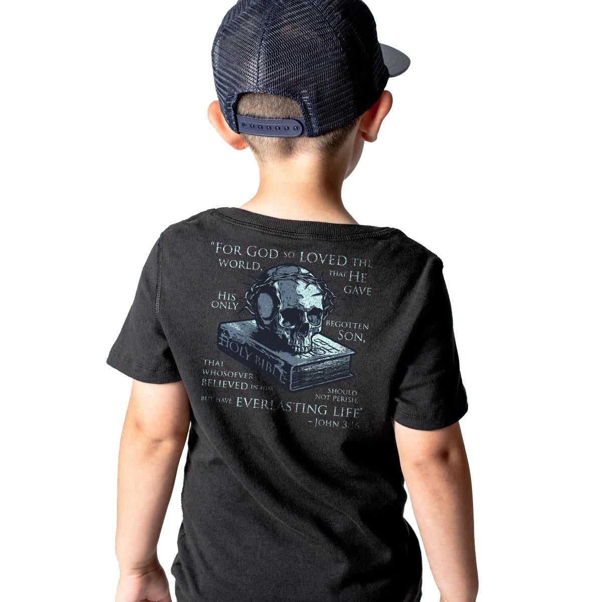 John 3:16 - Youth - Black - T-Shirts - Pipe Hitters Union