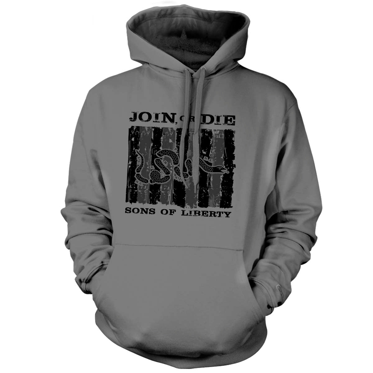 Sons of Liberty - Join or Die - Hoodie - Grey - T-Shirts - Pipe Hitters Union