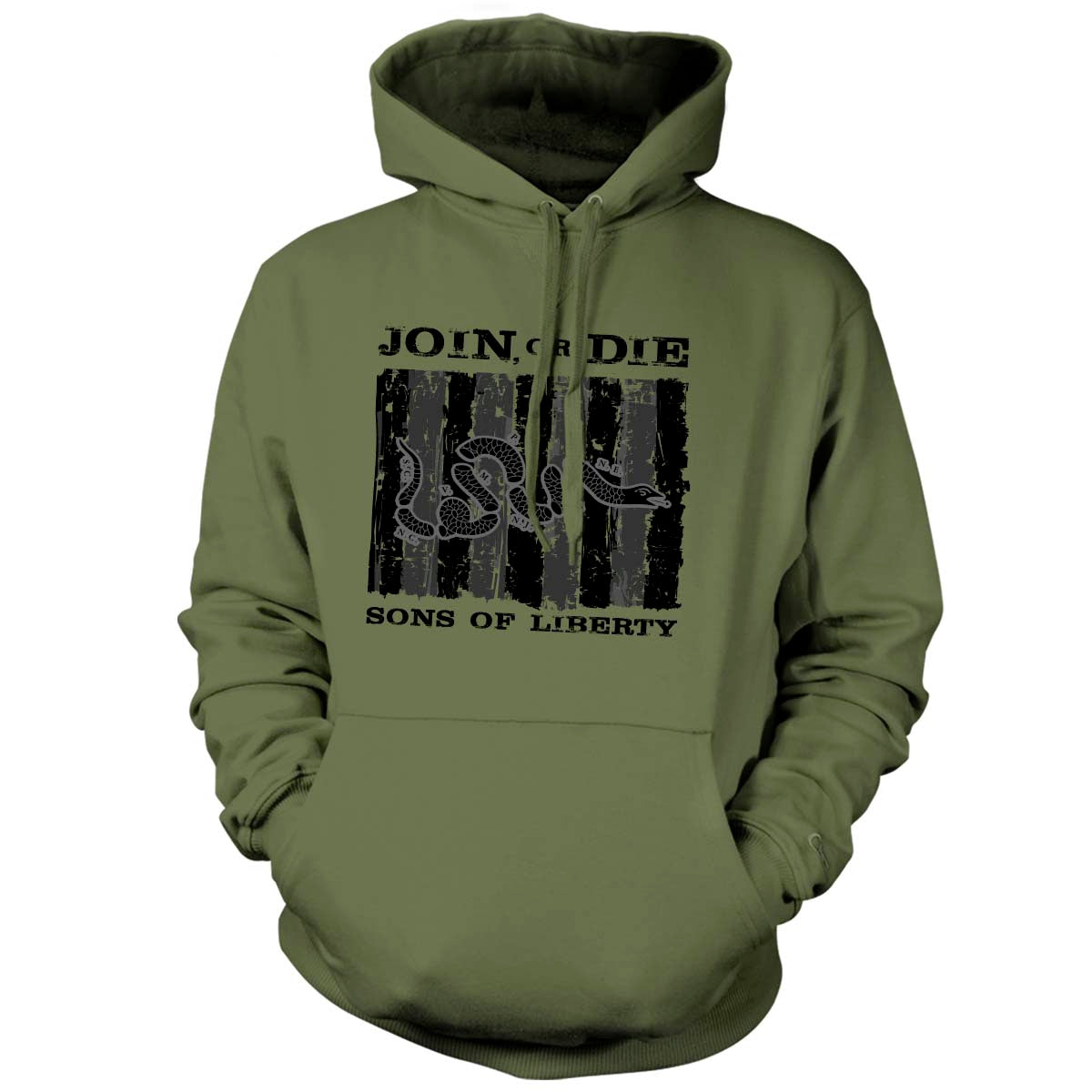 Sons of Liberty - Join or Die - Hoodie - Military Green - T-Shirts - Pipe Hitters Union