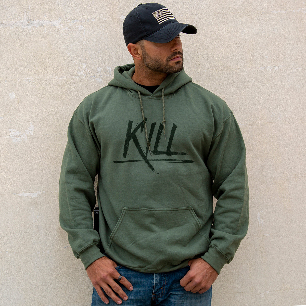 Kill Hoodie - Military Green - Hoodies - Pipe Hitters Union