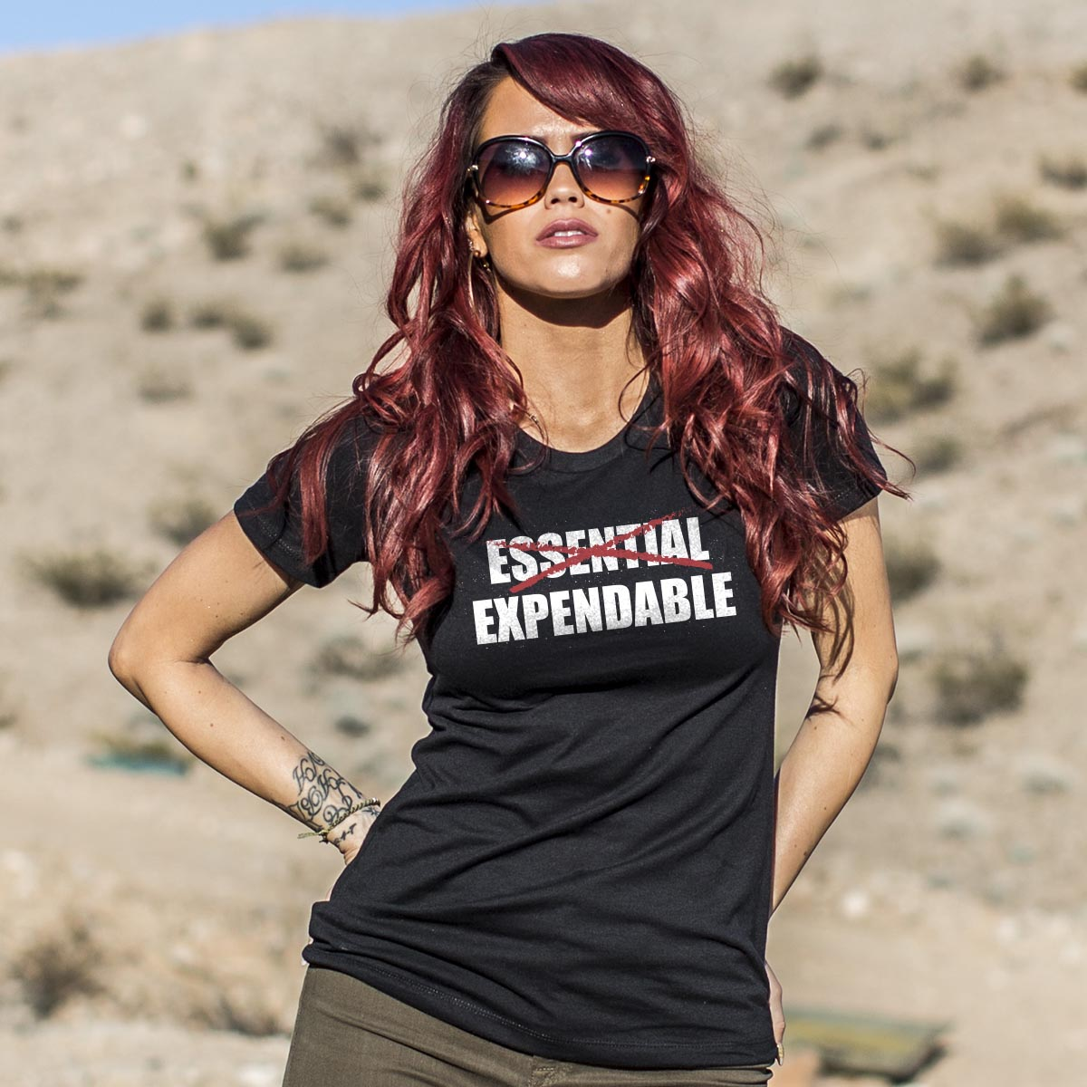 Essential < Expendable - Crew - Black - T-Shirts - Pipe Hitters Union