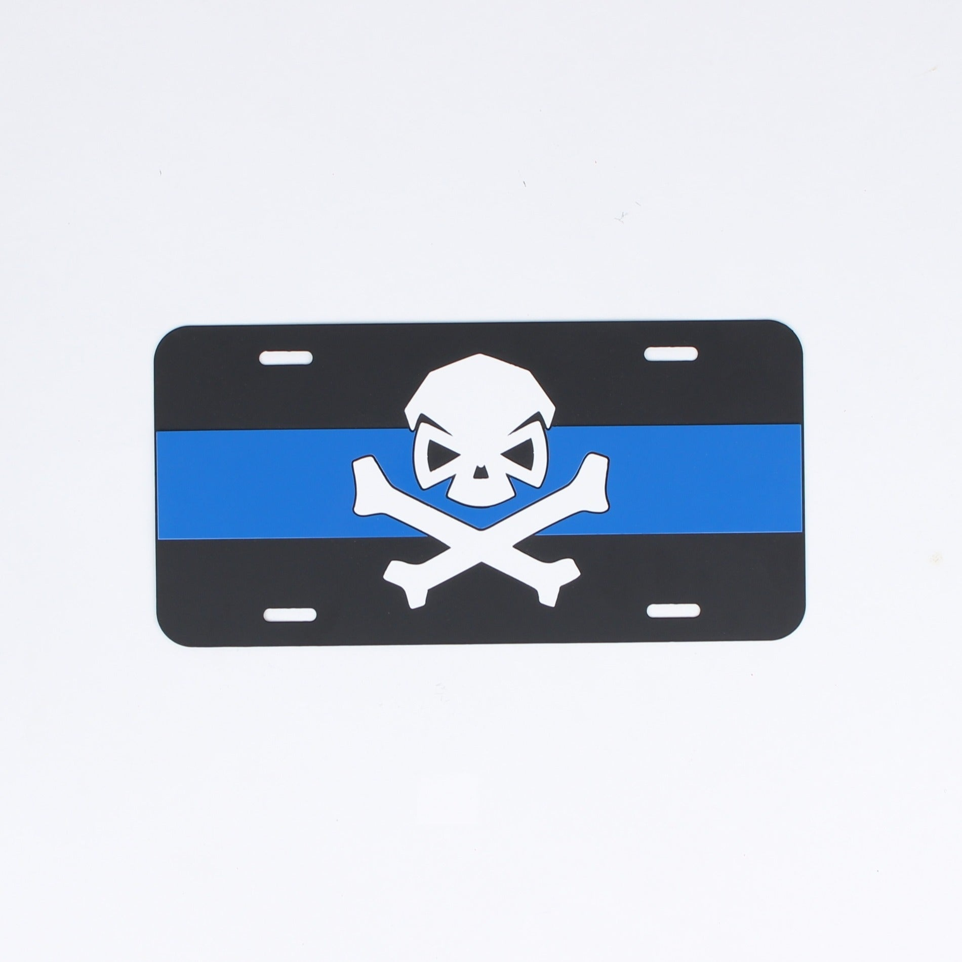 License Plate - Thin Blue Line - Challenge Coin - Pipe Hitters Union