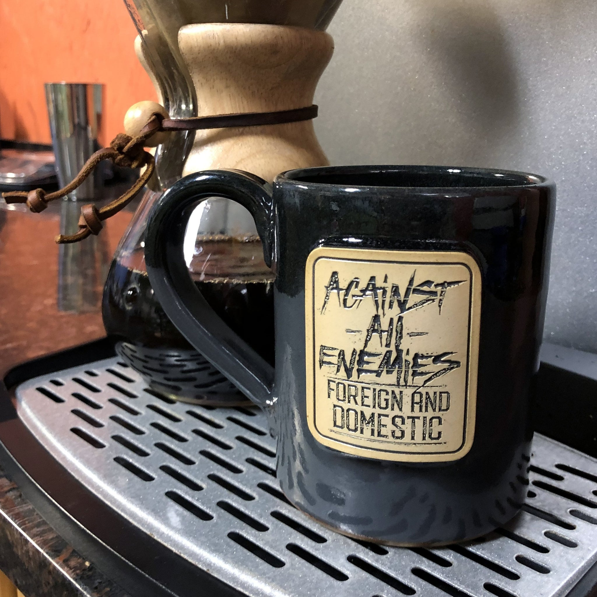 Against All Enemies - 14oz Coffee Mug -  - Coffee Mug - Pipe Hitters Union