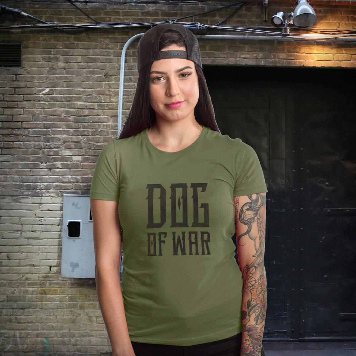 Dog of War (Crew) - Military Green - T-Shirts - Pipe Hitters Union