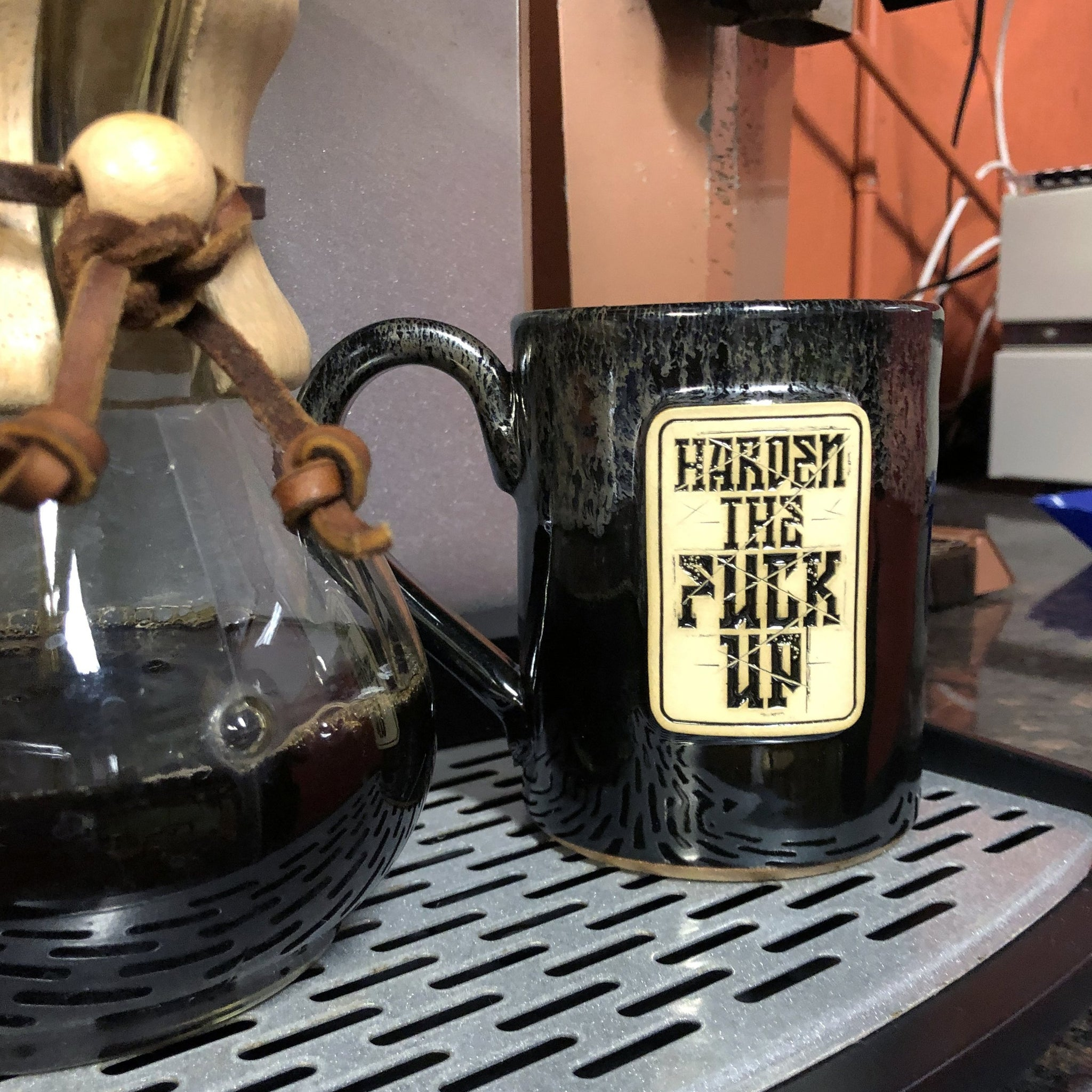 Harden The Fuck Up - 14oz Coffee Mug -  - Coffee Mug - Pipe Hitters Union