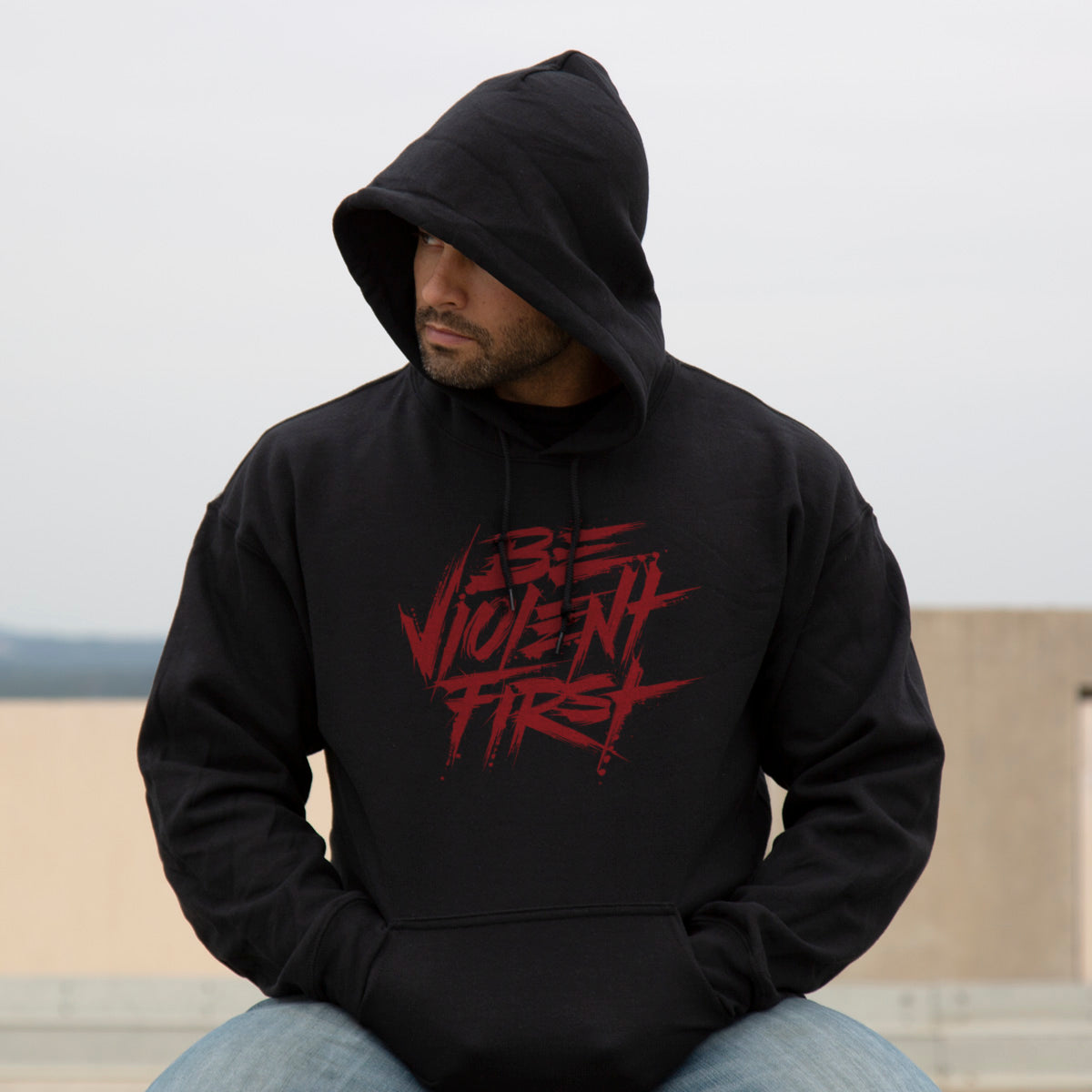 Be Violent First Hoodie -  - Hoodies - Pipe Hitters Union