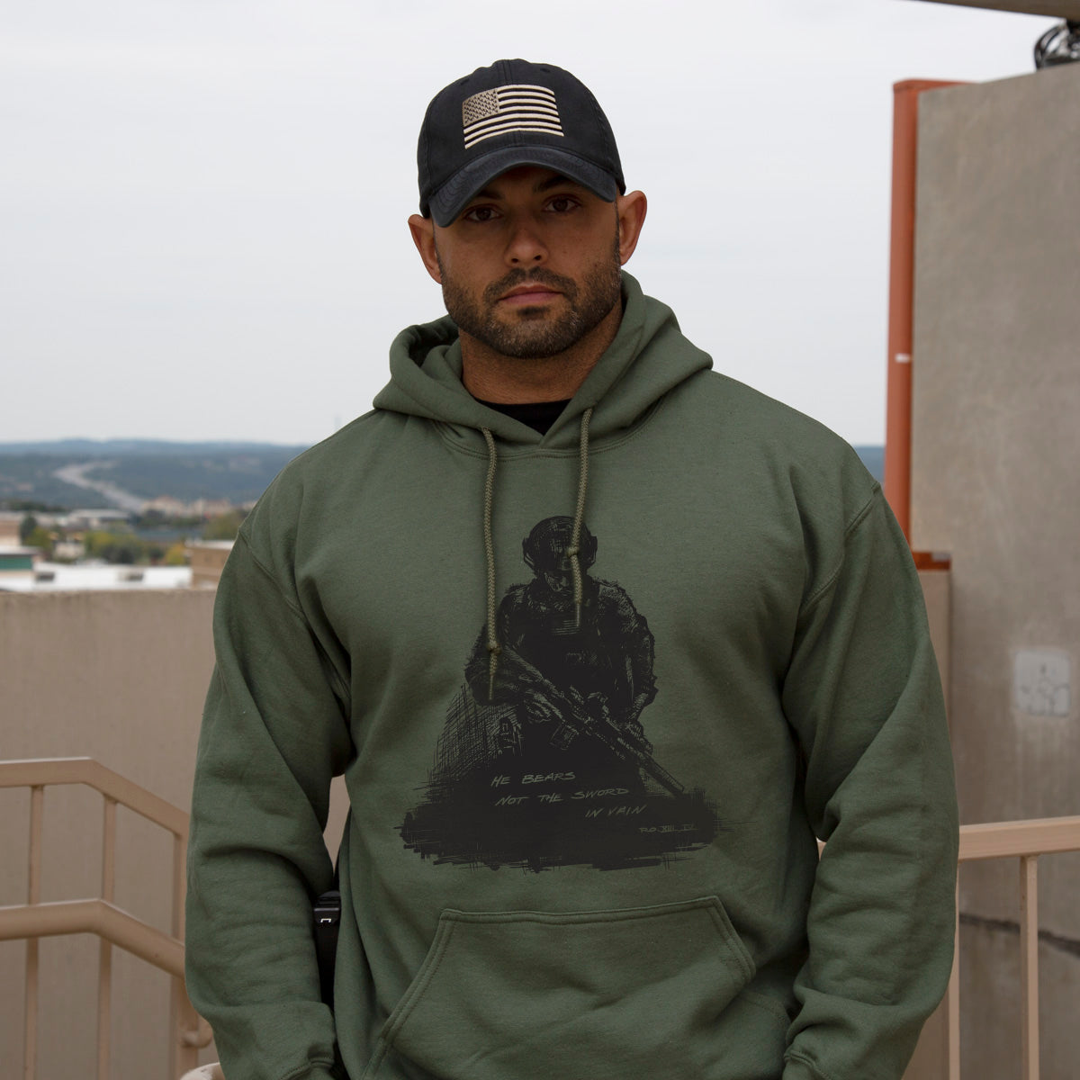 Romans 13:4 Hoodie -  - Hoodies - Pipe Hitters Union