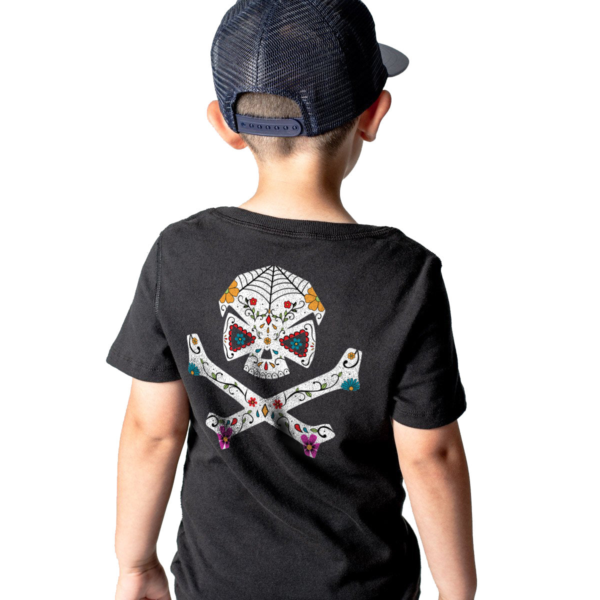Sugar Skull - Youth - Black - T-Shirts - Pipe Hitters Union
