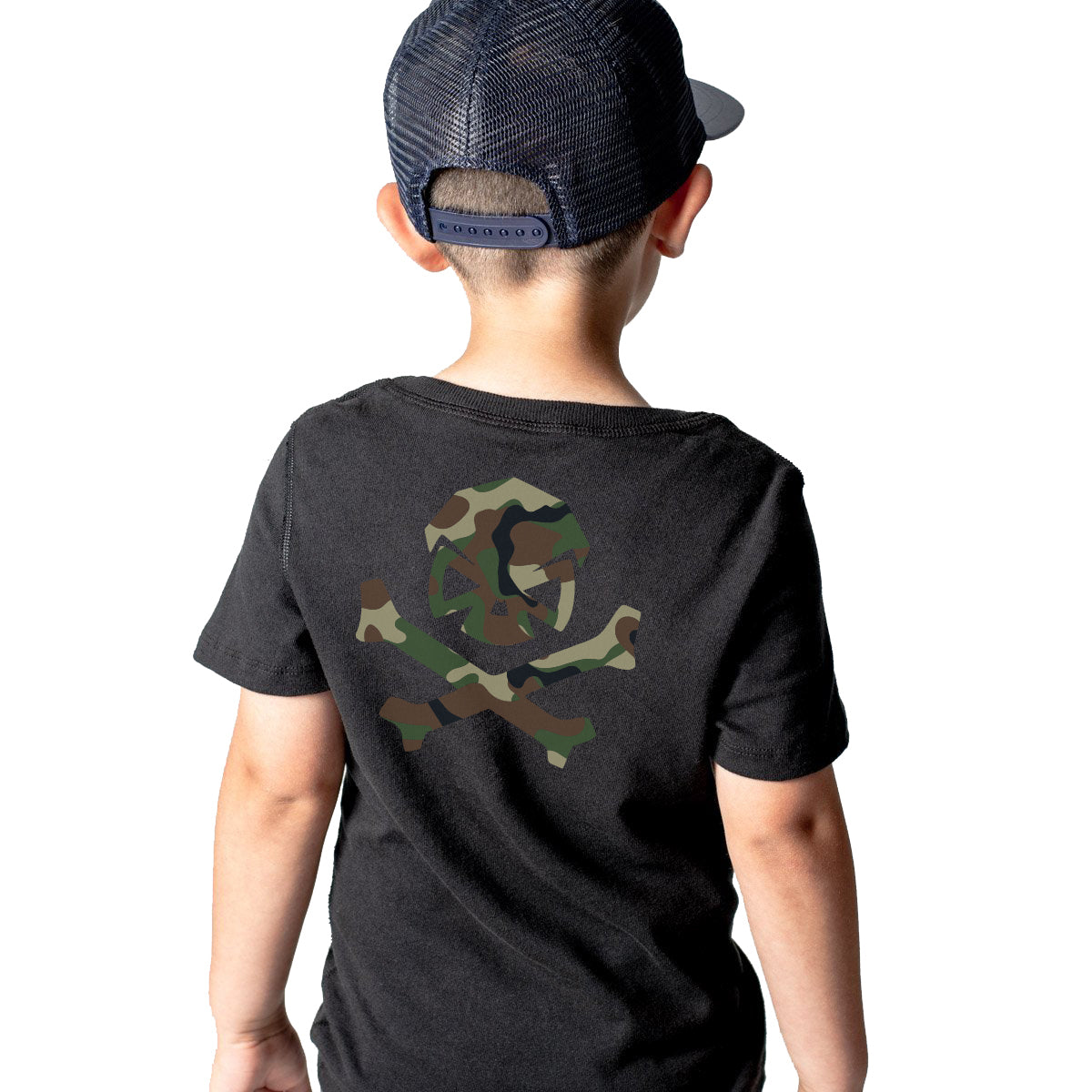 Woodland Camo - Youth - Black - T-Shirts - Pipe Hitters Union