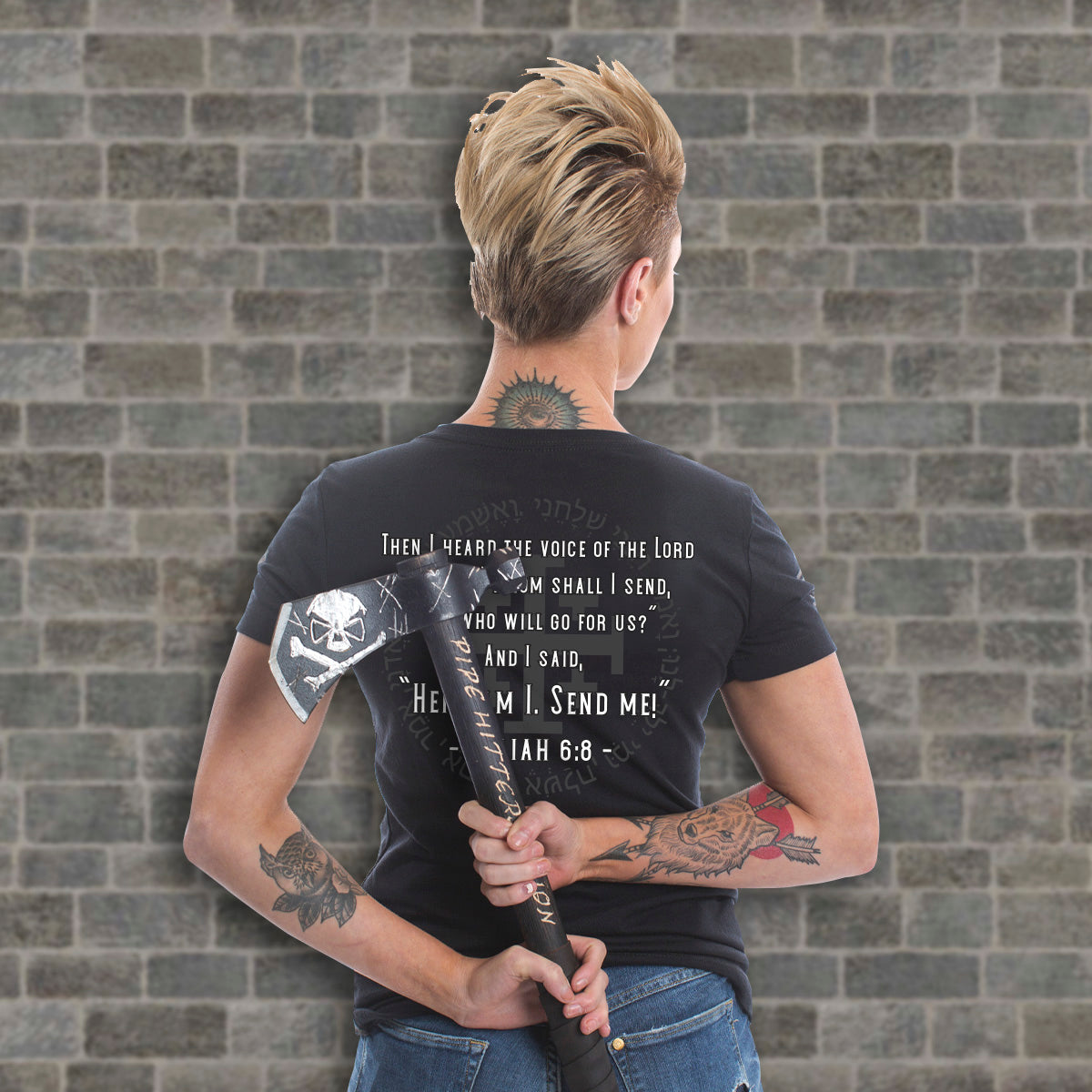 Isaiah 6.8 (V-Neck) - Pipe Hitters Union