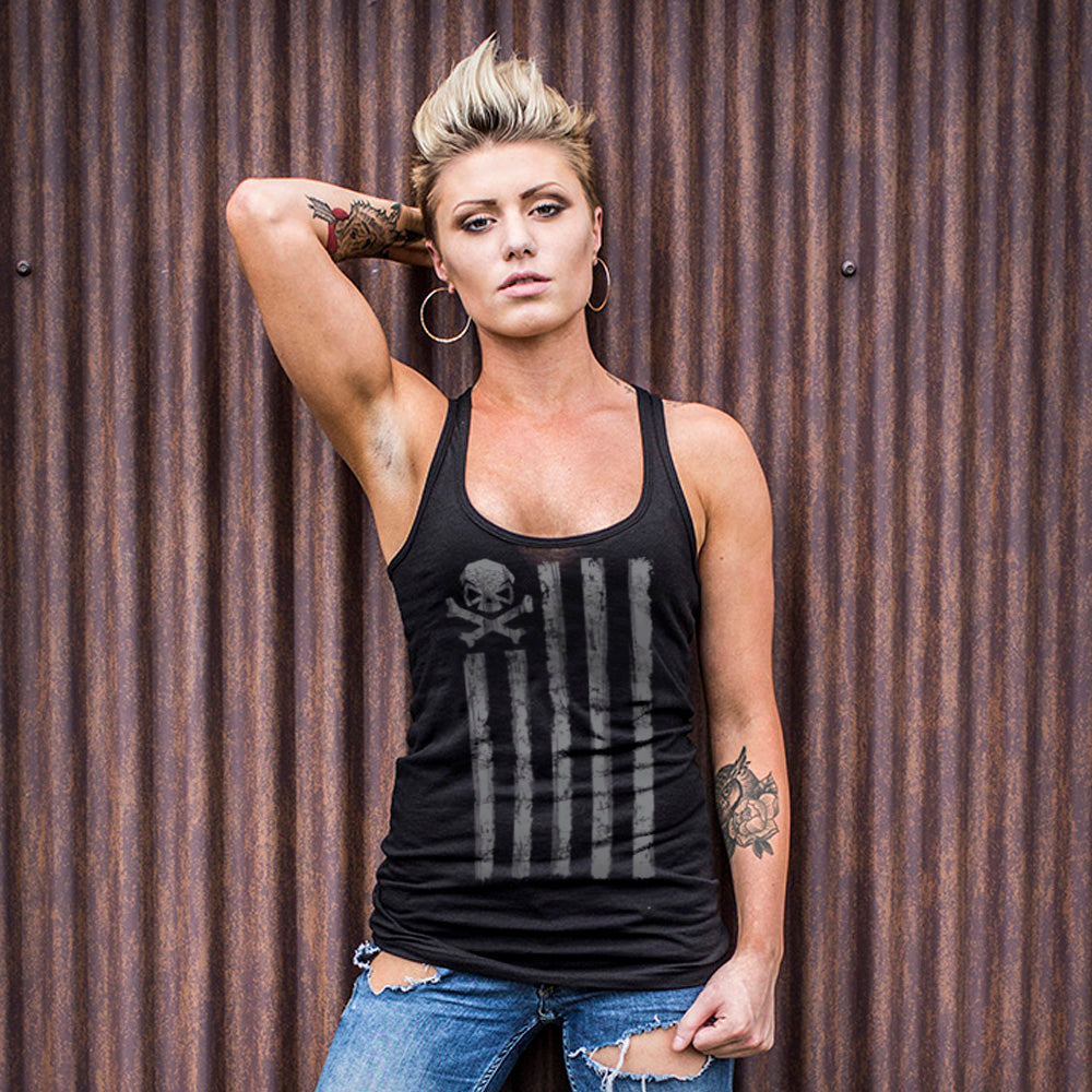 Battle Stripes Tank - Black/Grey - T-Shirts - Pipe Hitters Union