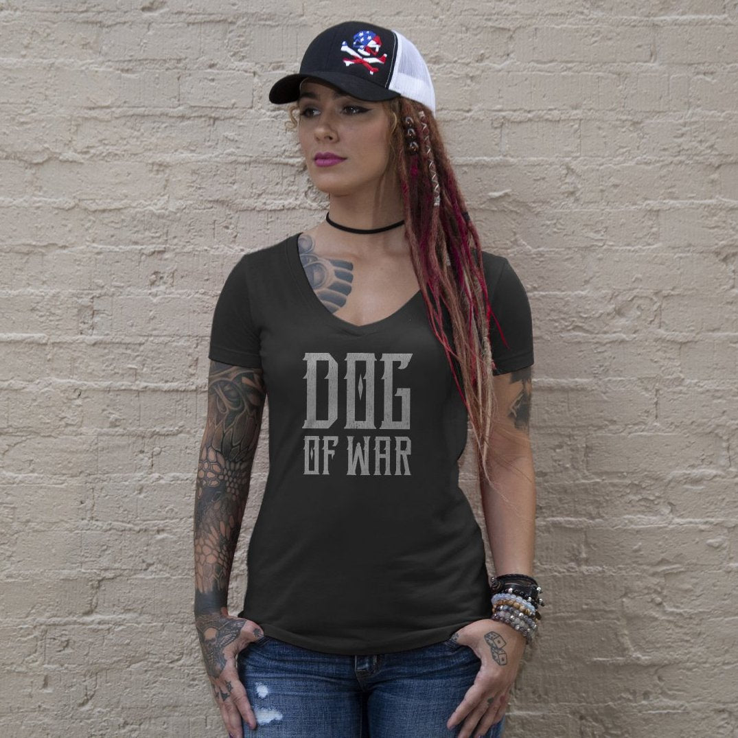 Dog of War (V-Neck) - Black - T-Shirts - Pipe Hitters Union