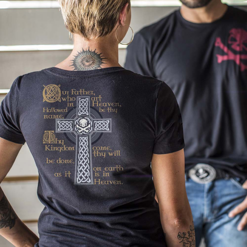 Lord's Prayer - Crew - Black - T-Shirts - Pipe Hitters Union