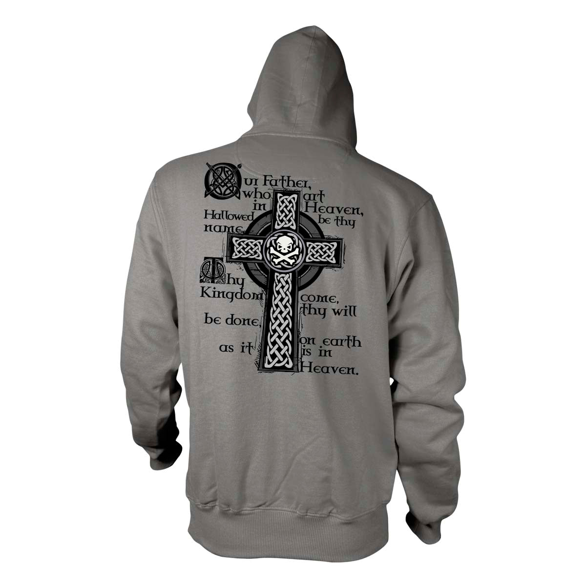 Lord's Prayer - Hoodie - Grey - T-Shirts - Pipe Hitters Union
