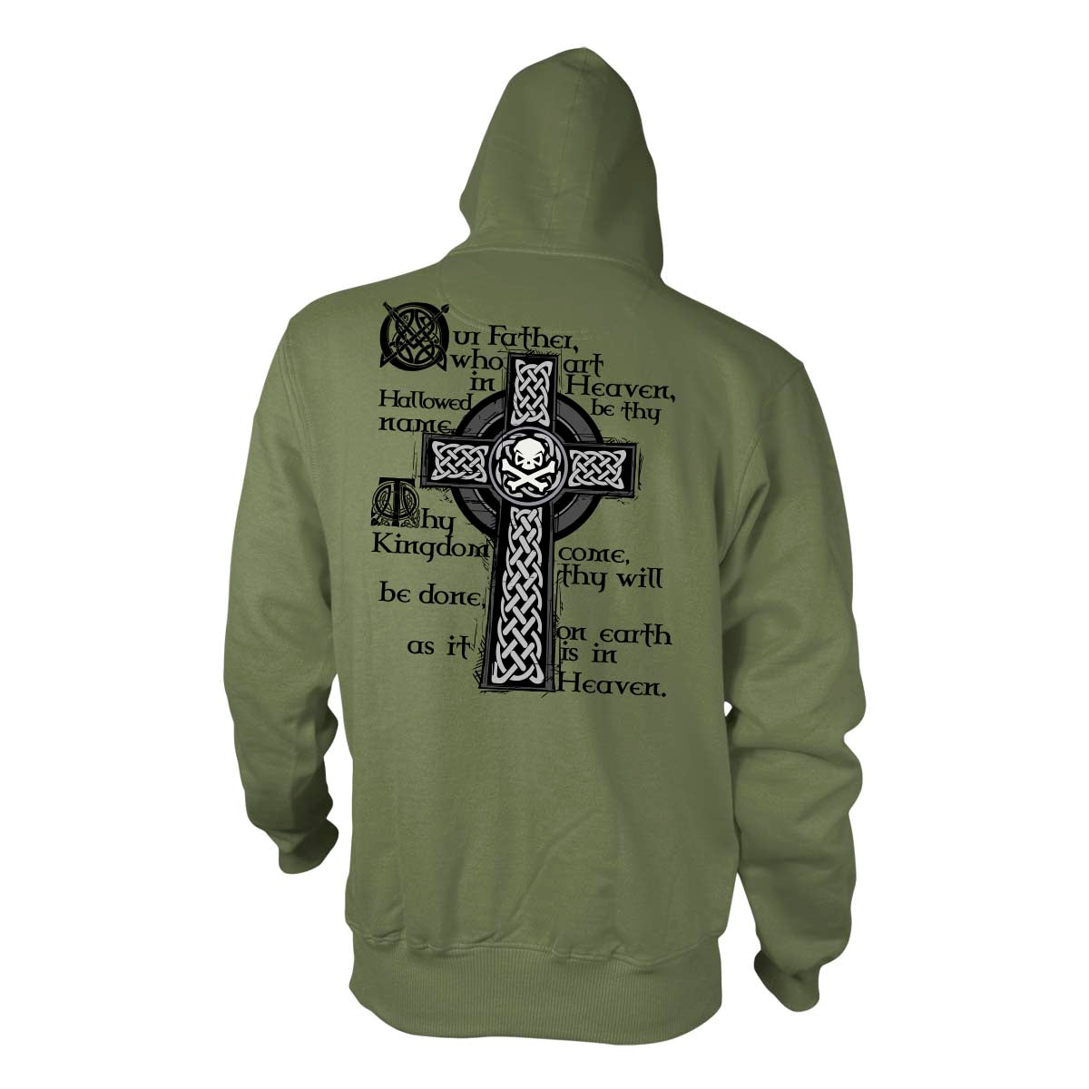 Lord's Prayer - Hoodie - Military Green - T-Shirts - Pipe Hitters Union