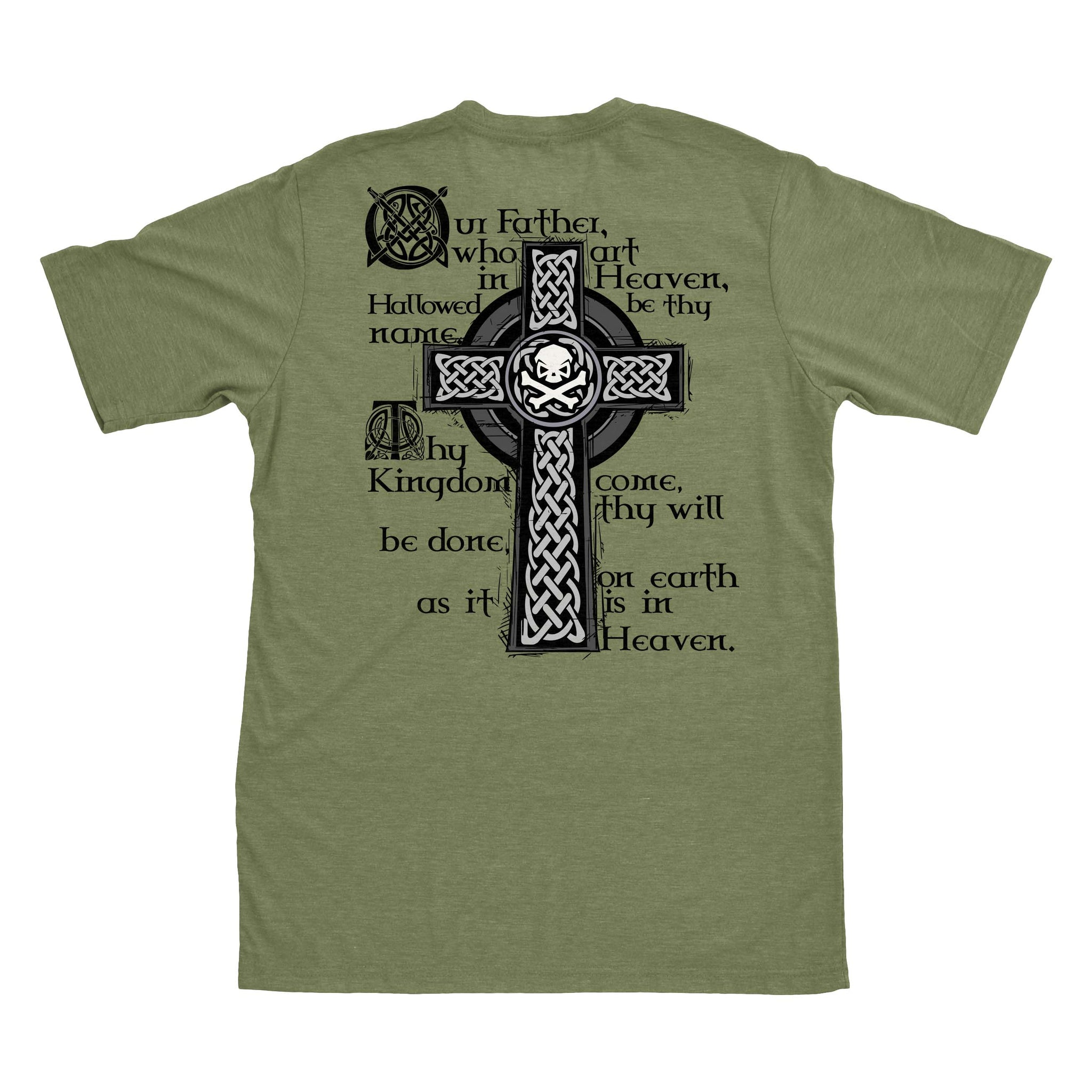 Lord's Prayer - Military Green - T-Shirts - Pipe Hitters Union