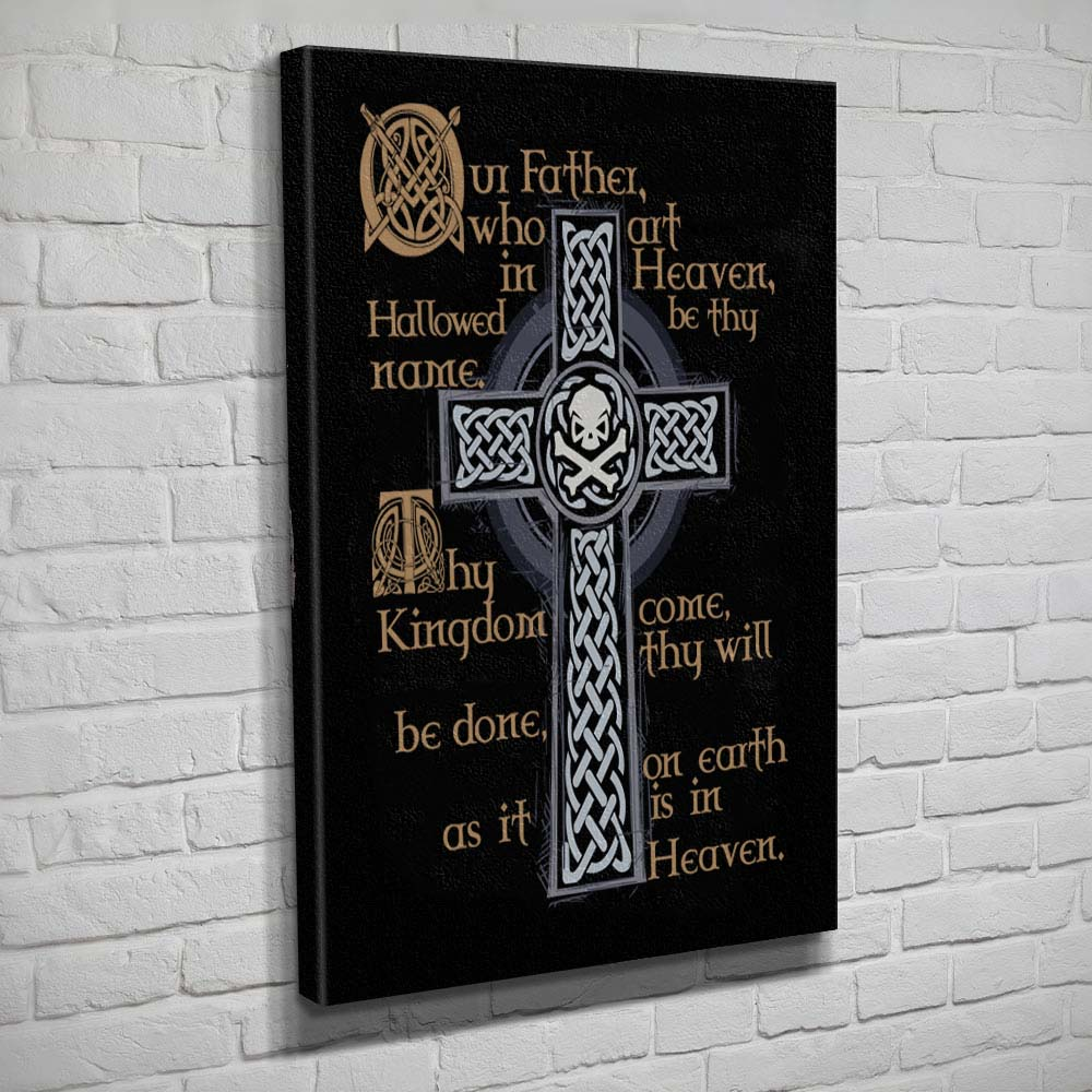 Lord's Prayer - Canvas - Black/Grey - Canvas - Pipe Hitters Union