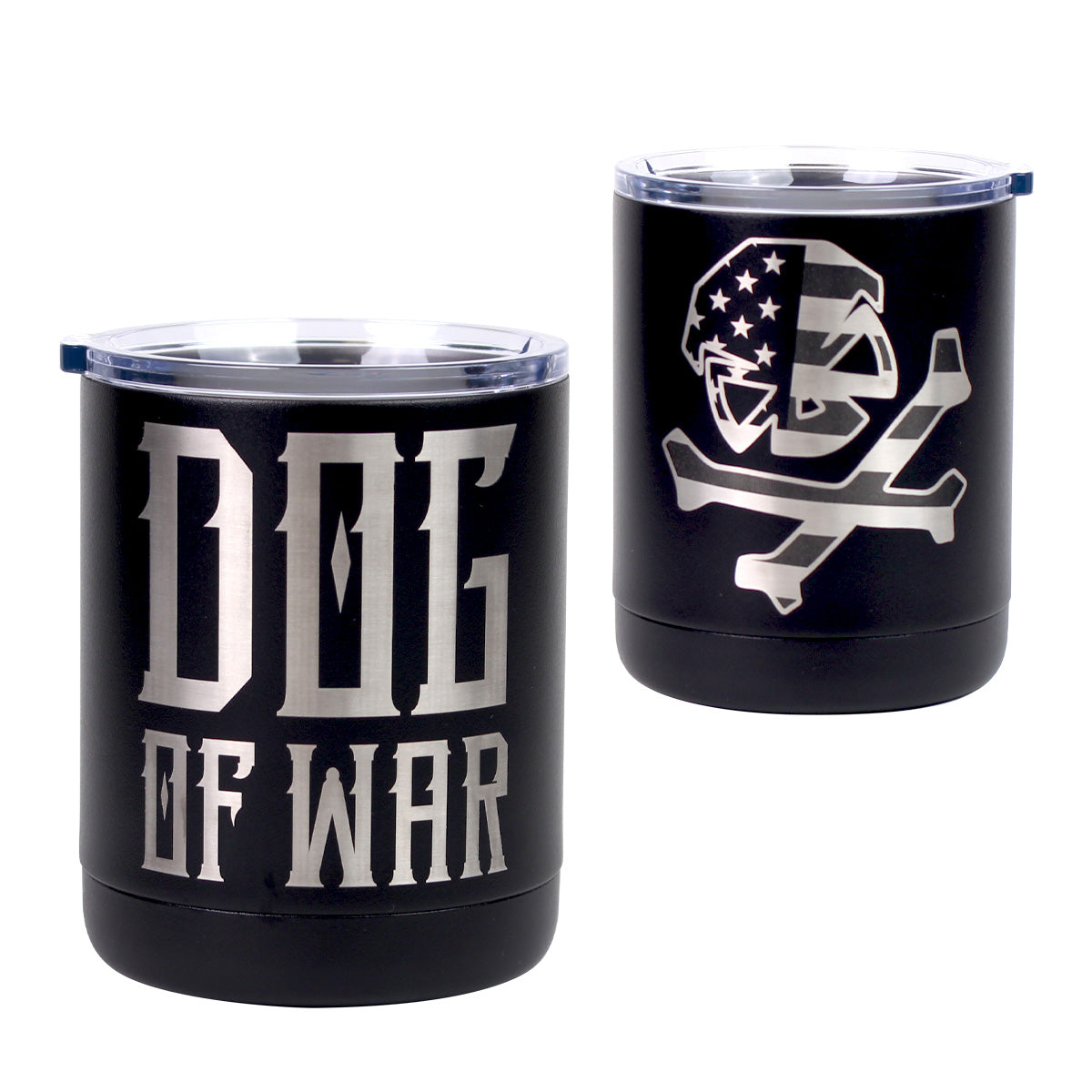 Dog of War - 10oz Lowball - Black - Tumbler - Pipe Hitters Union