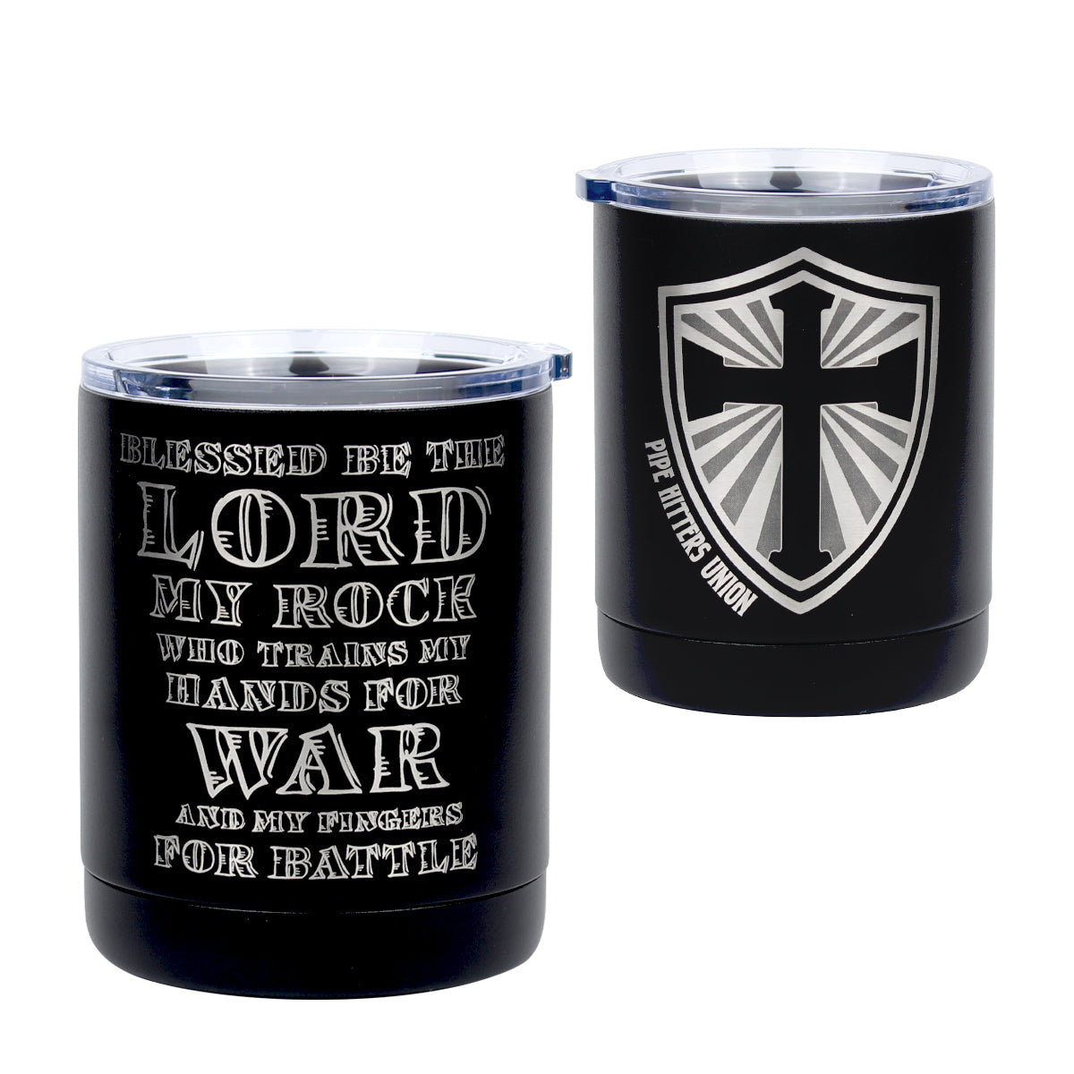 Psalm 144.1 - 10oz Lowball - Pipe Hitters Union