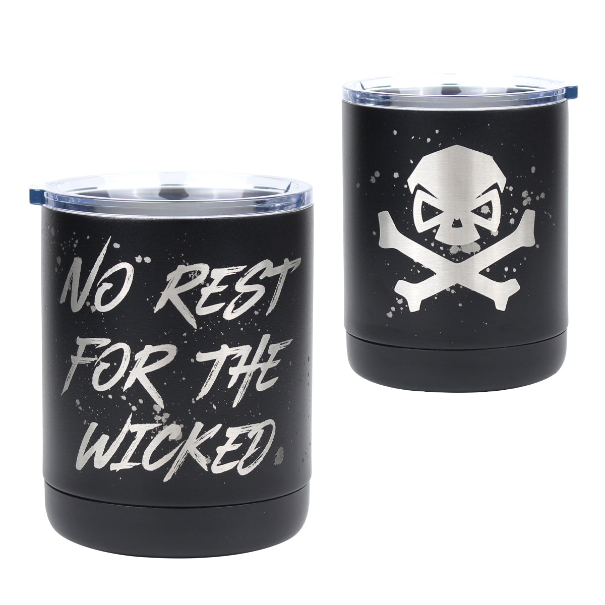 No Rest For The Wicked - 10oz Lowball -  - Tumbler - Pipe Hitters Union