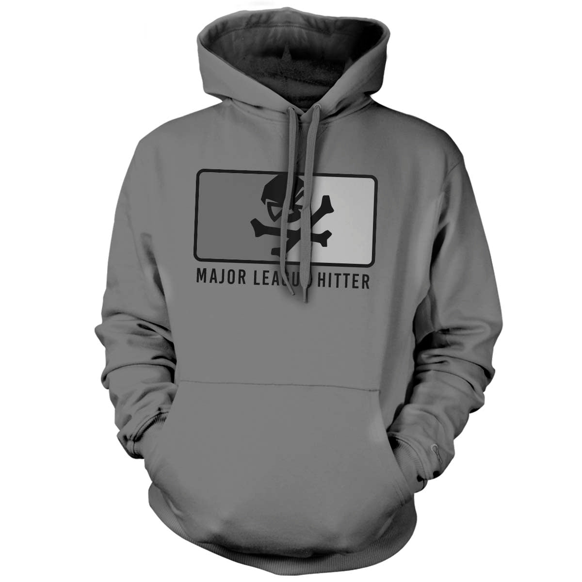 Major League Hitter - Hoodie - Grey/Subdued - T-Shirts - Pipe Hitters Union