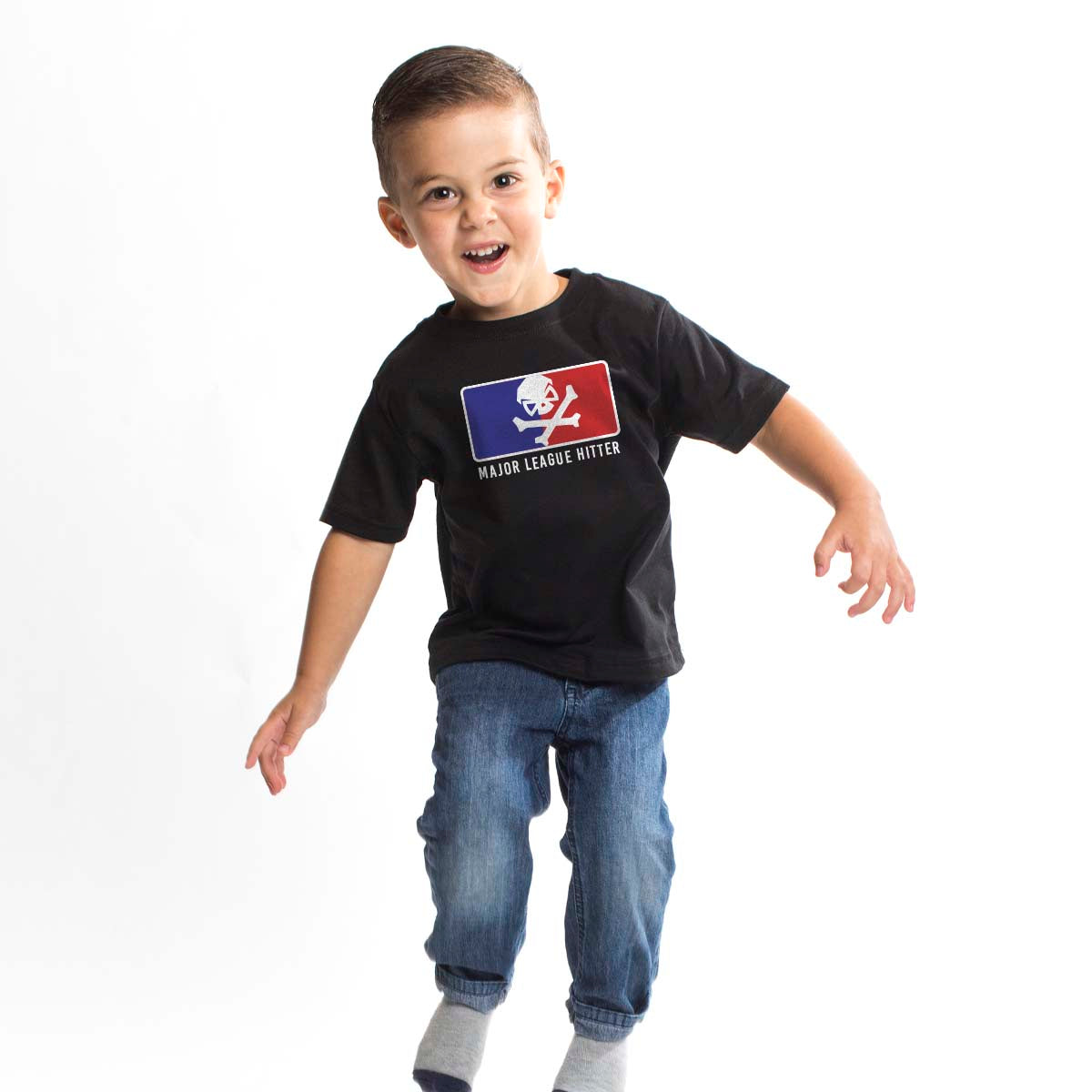 Major League Hitter - Youth - Black/RWB - T-Shirts - Pipe Hitters Union