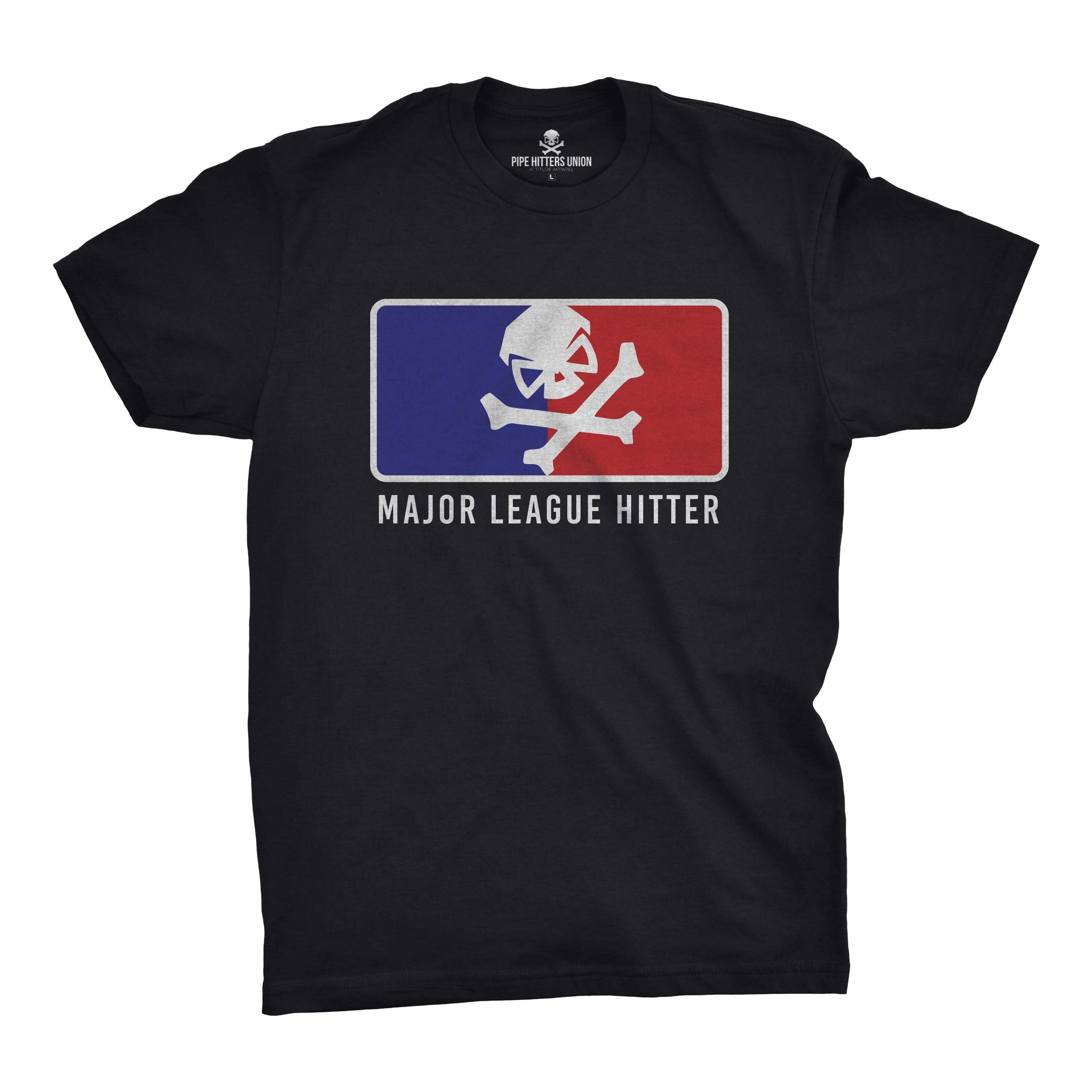 Major League Hitter - Black/RWB - T-Shirts - Pipe Hitters Union