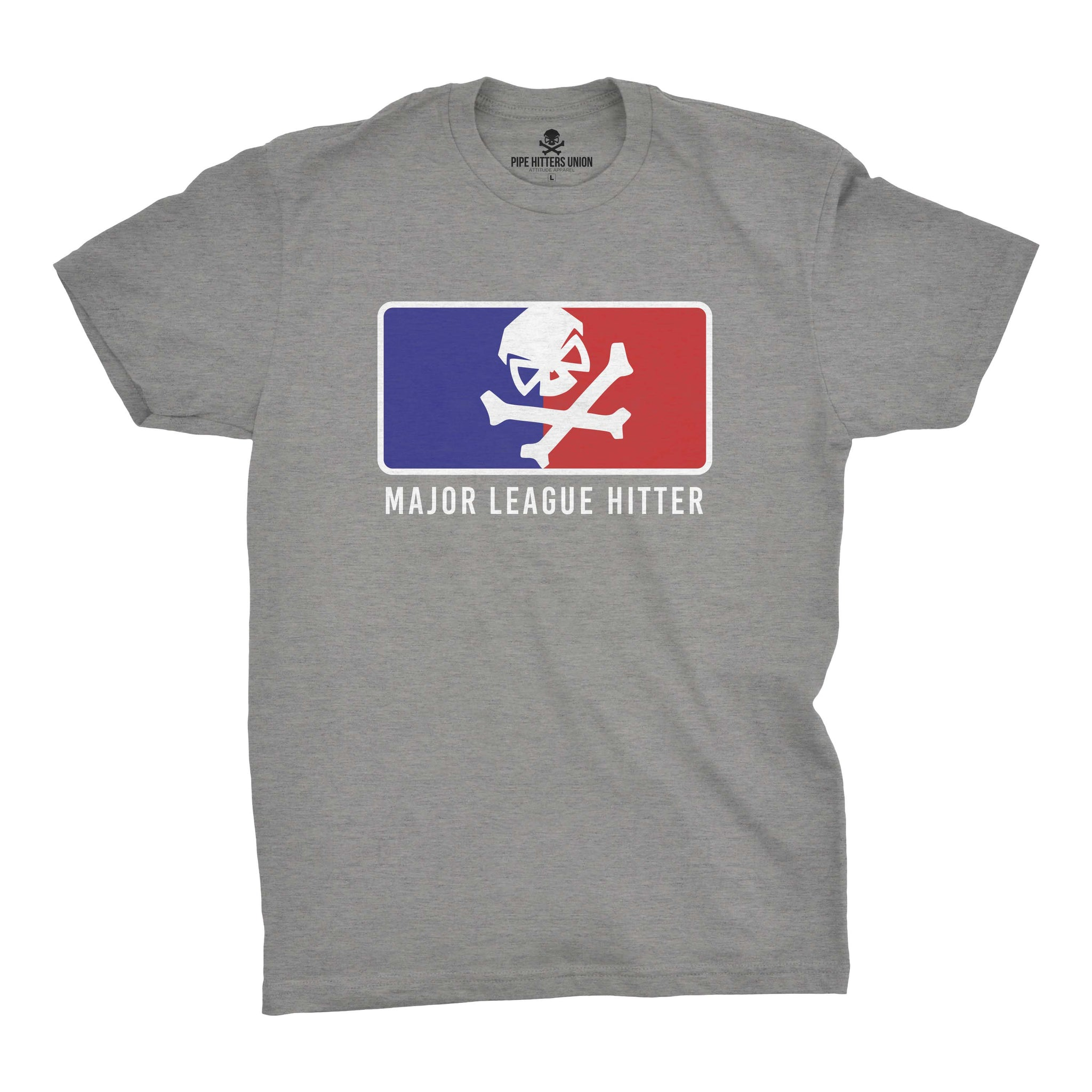 Major League Hitter - Grey/RWB - T-Shirts - Pipe Hitters Union