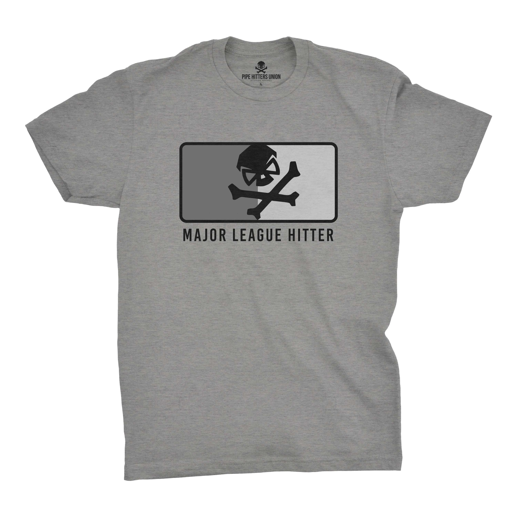 Major League Hitter - Grey/Subdued - T-Shirts - Pipe Hitters Union