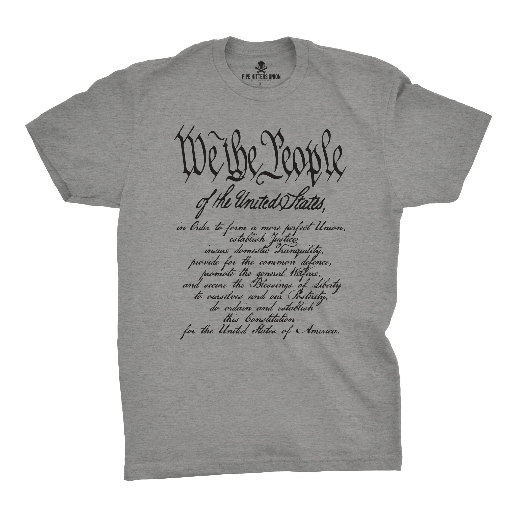 We The People w/ Preamble - Grey - T-Shirts - Pipe Hitters Union