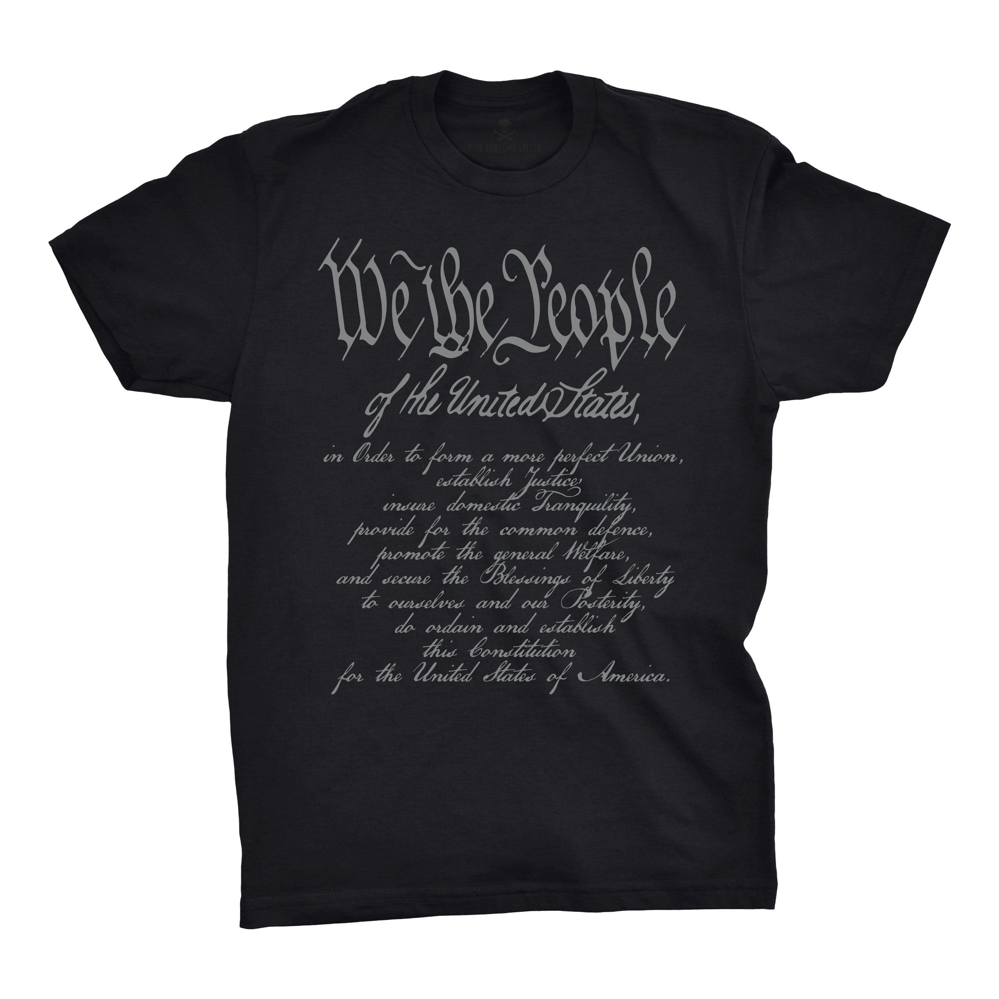 We The People w/ Preamble - Black - T-Shirts - Pipe Hitters Union