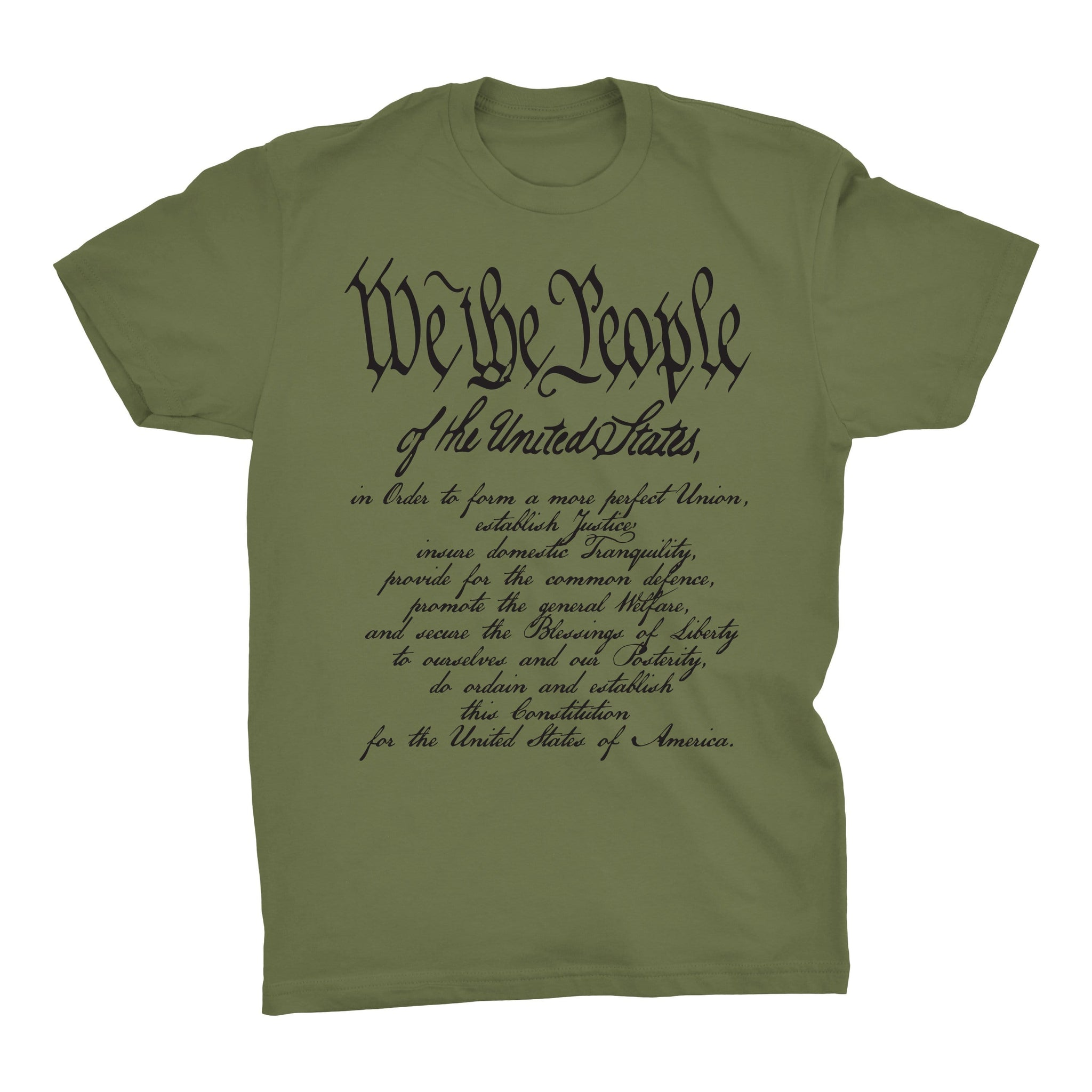 We The People w/ Preamble - Military Green - T-Shirts - Pipe Hitters Union