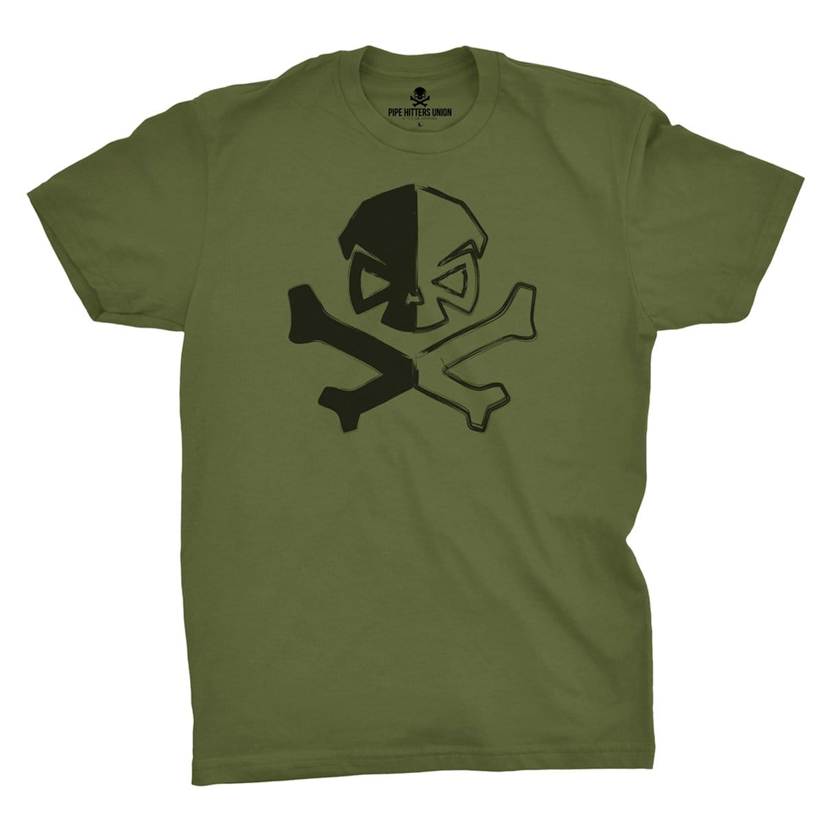 Dichotomy of a Pipe Hitter - Military Green - T-Shirts - Pipe Hitters Union